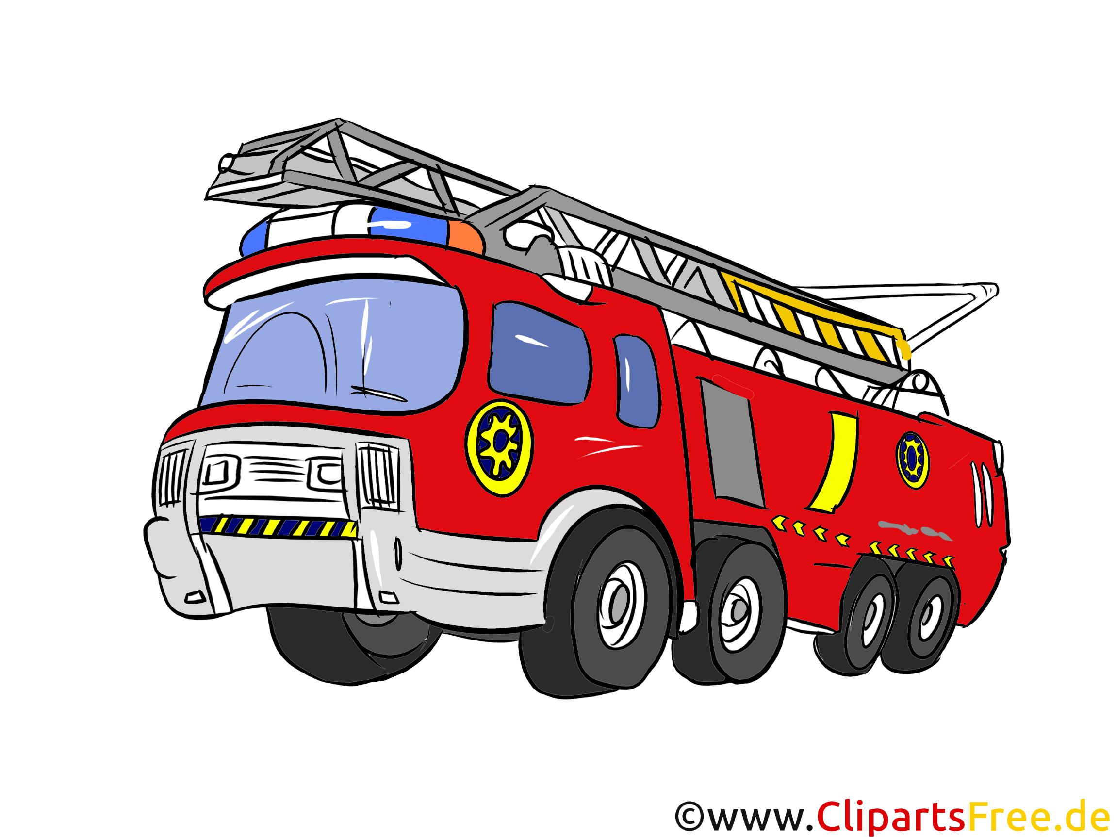 Feuerwehrauto Illustration, Bild, Clipart Autos