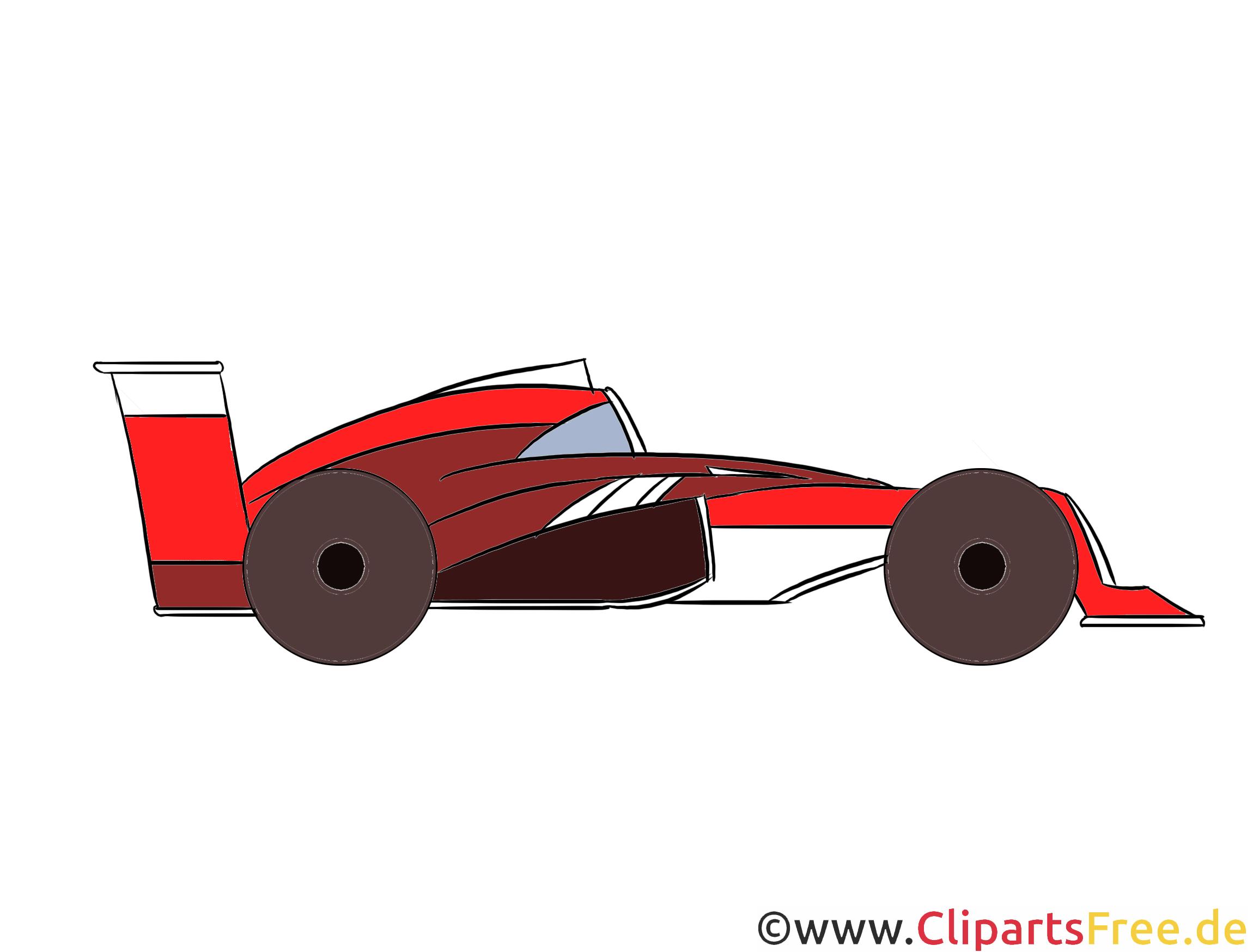 Formel 1 Rennwagen Clipart, Illustration, Bild kostenlos
