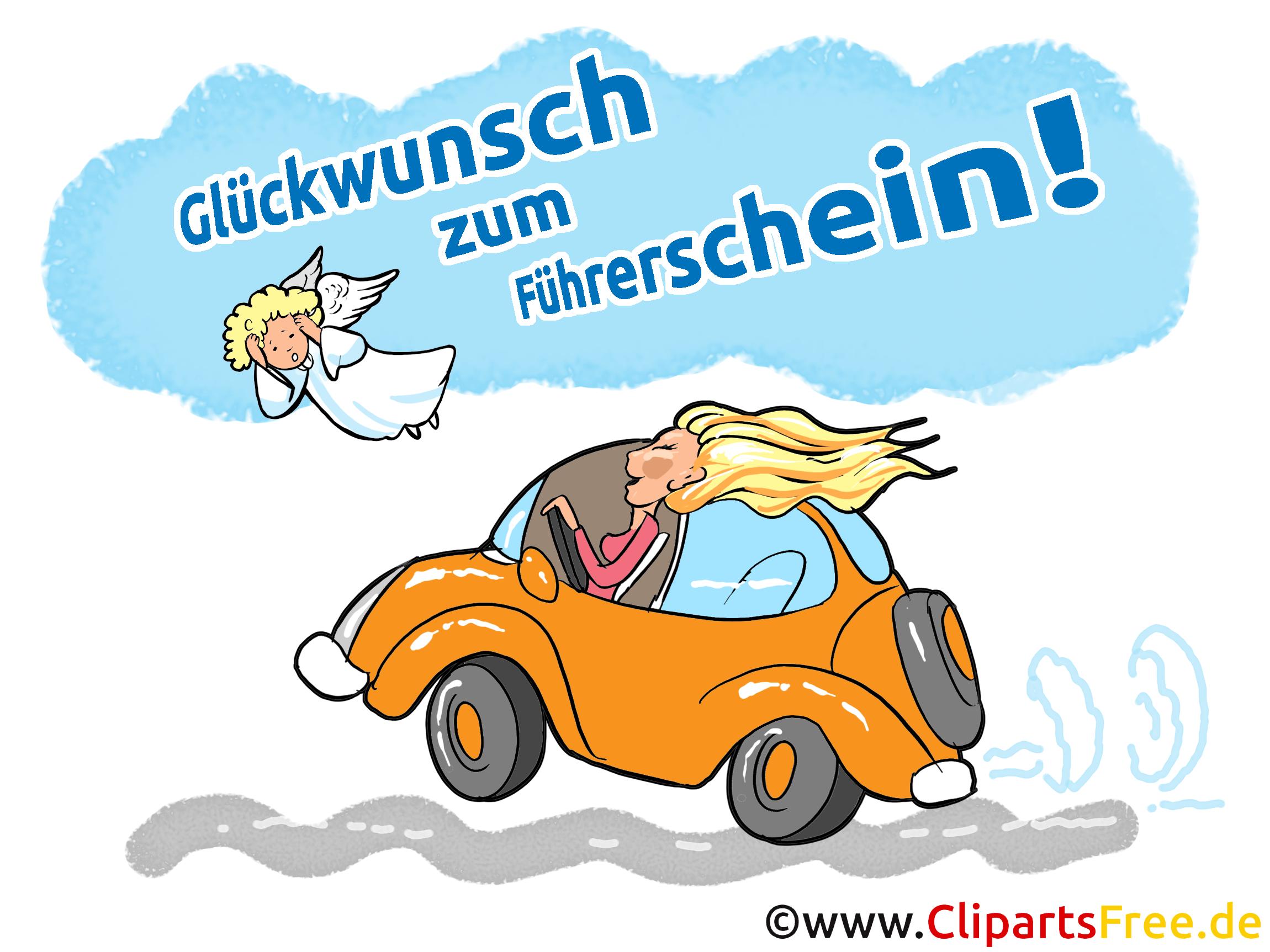 Führerschein gratulieren