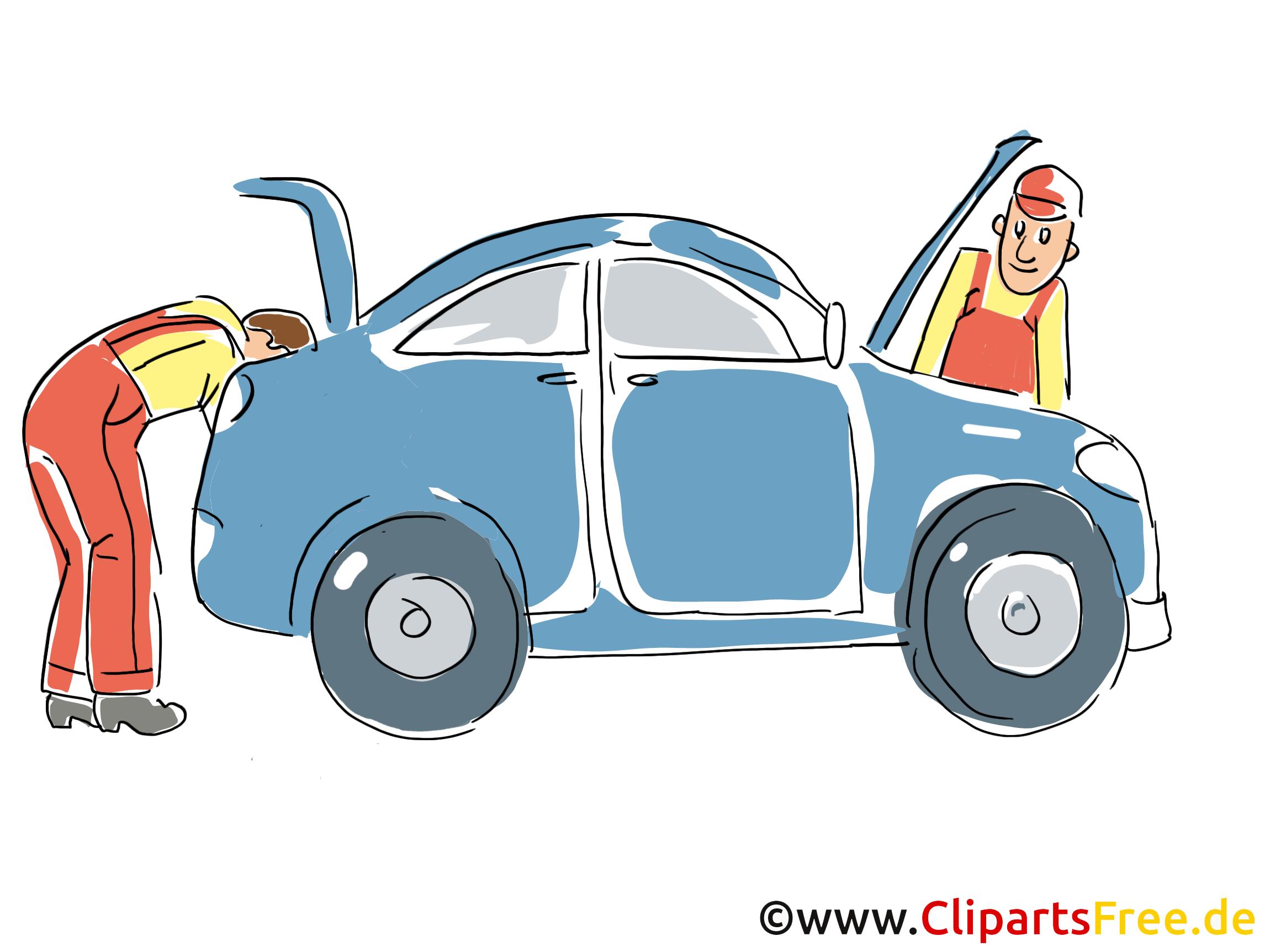 Inspektion Clipart, Service Bild, Kfz Grafik, Cartoon, Illustration gratis