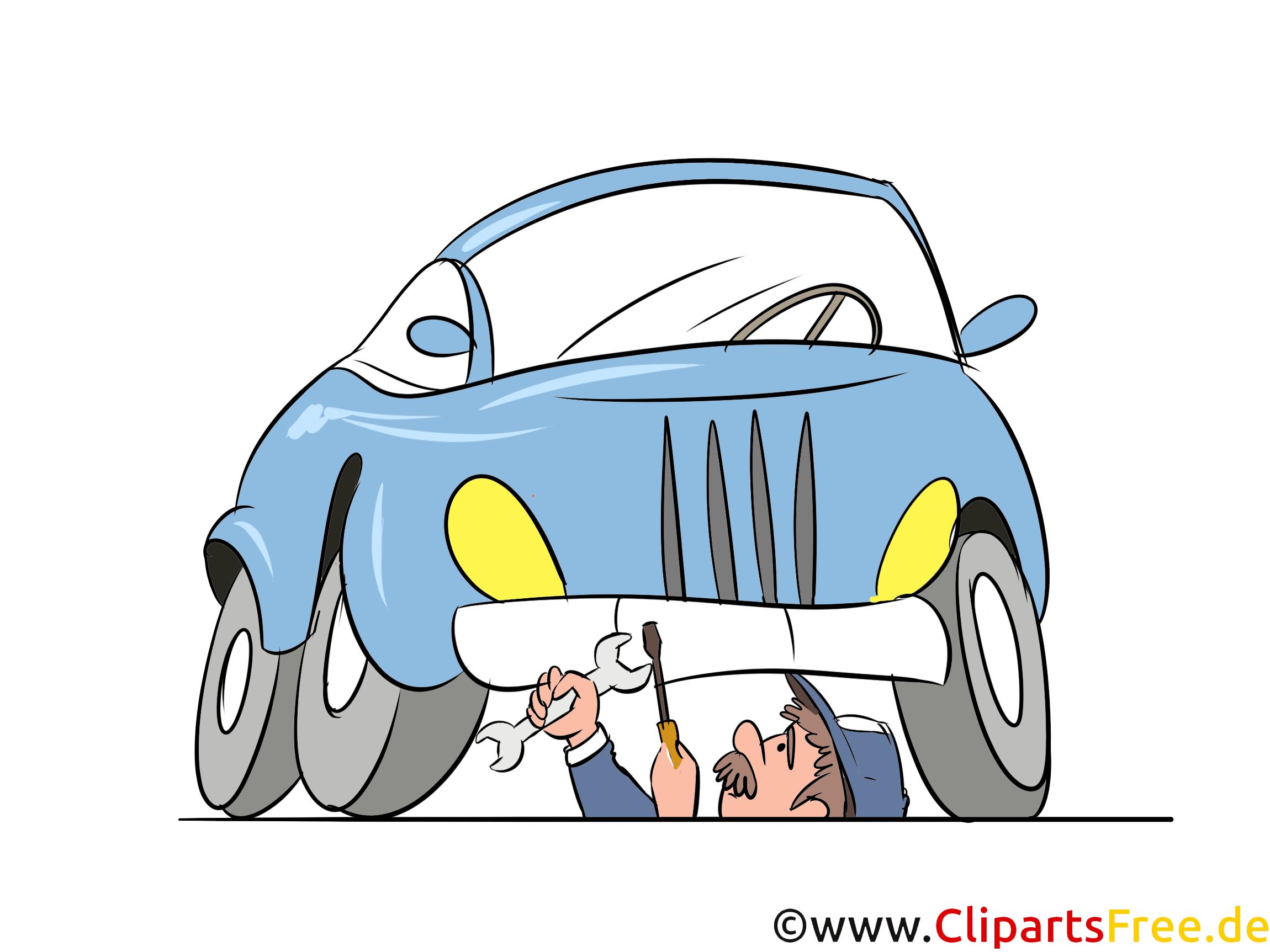 Kfz-Reparatur, Autowerkstatt Bild, Illustration, Clipart, Cartoon gratis