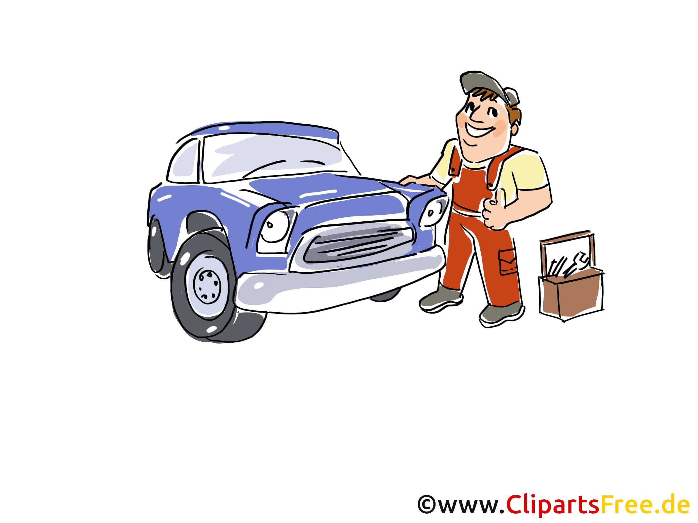 KFZ-Service Clipart, Bild, Grafik, Cartoon, Illustration gratis