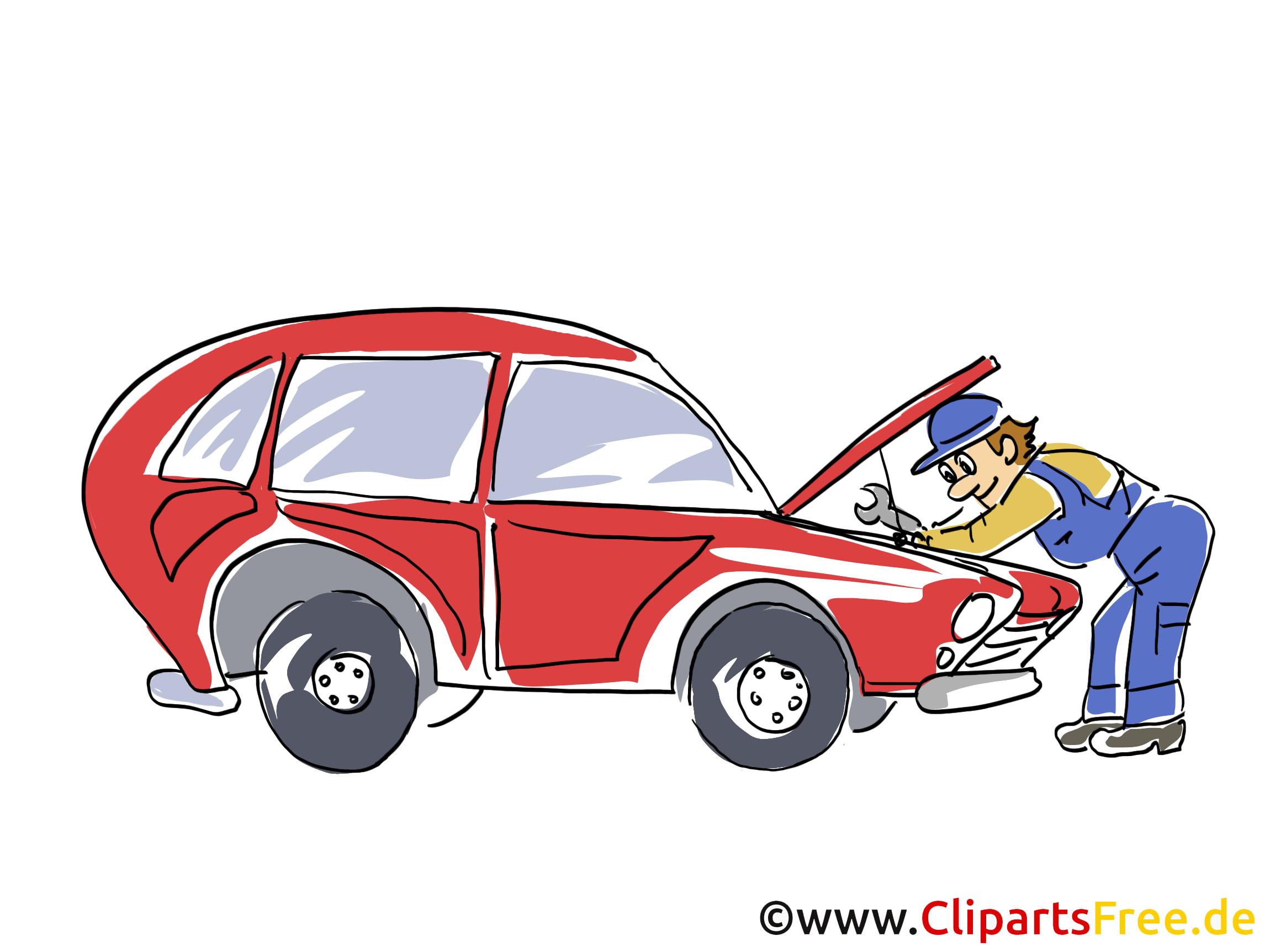 Kfz Werkstatt Clipart, Bild, Grafik, Cartoon, Illustration gratis