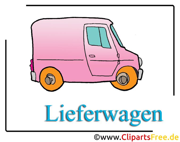 Lieferwagen Clipart free