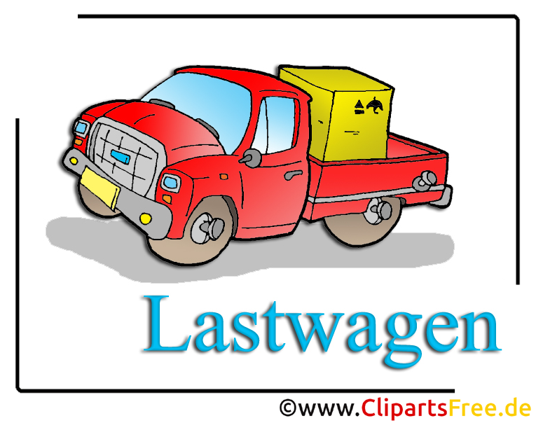 LKW Clipart im Cartoonstil kostenlos