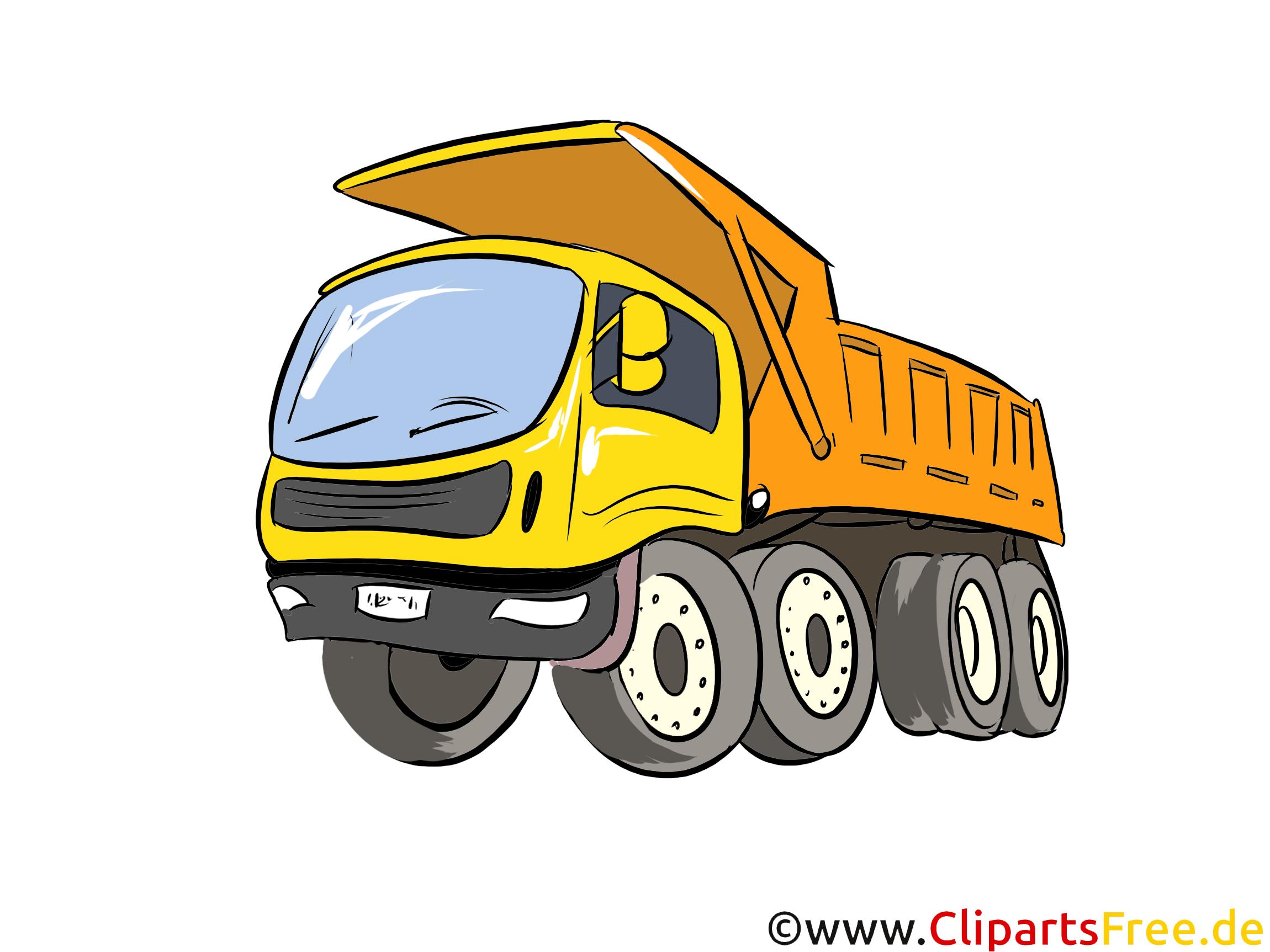 LKW Kipper Illustration, Bild, Clipart Autos