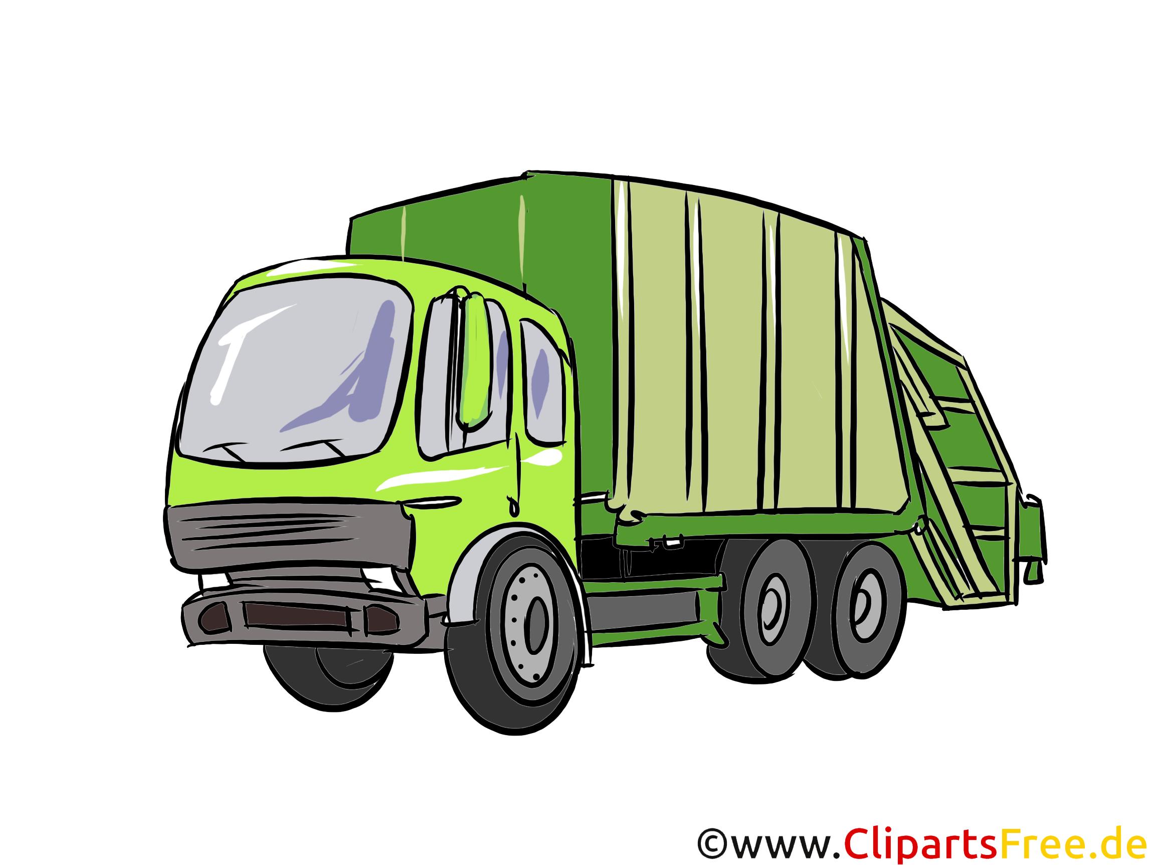 Müllauto Illustration, Bild, Clipart Autos