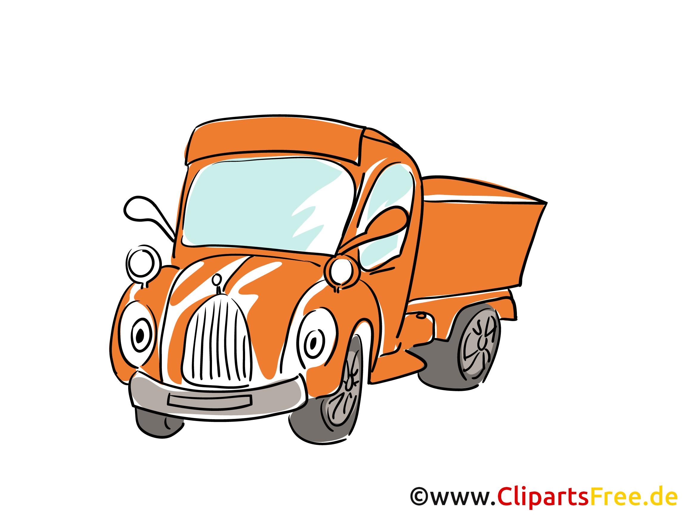 Pick Up Auto Bild, Clipart