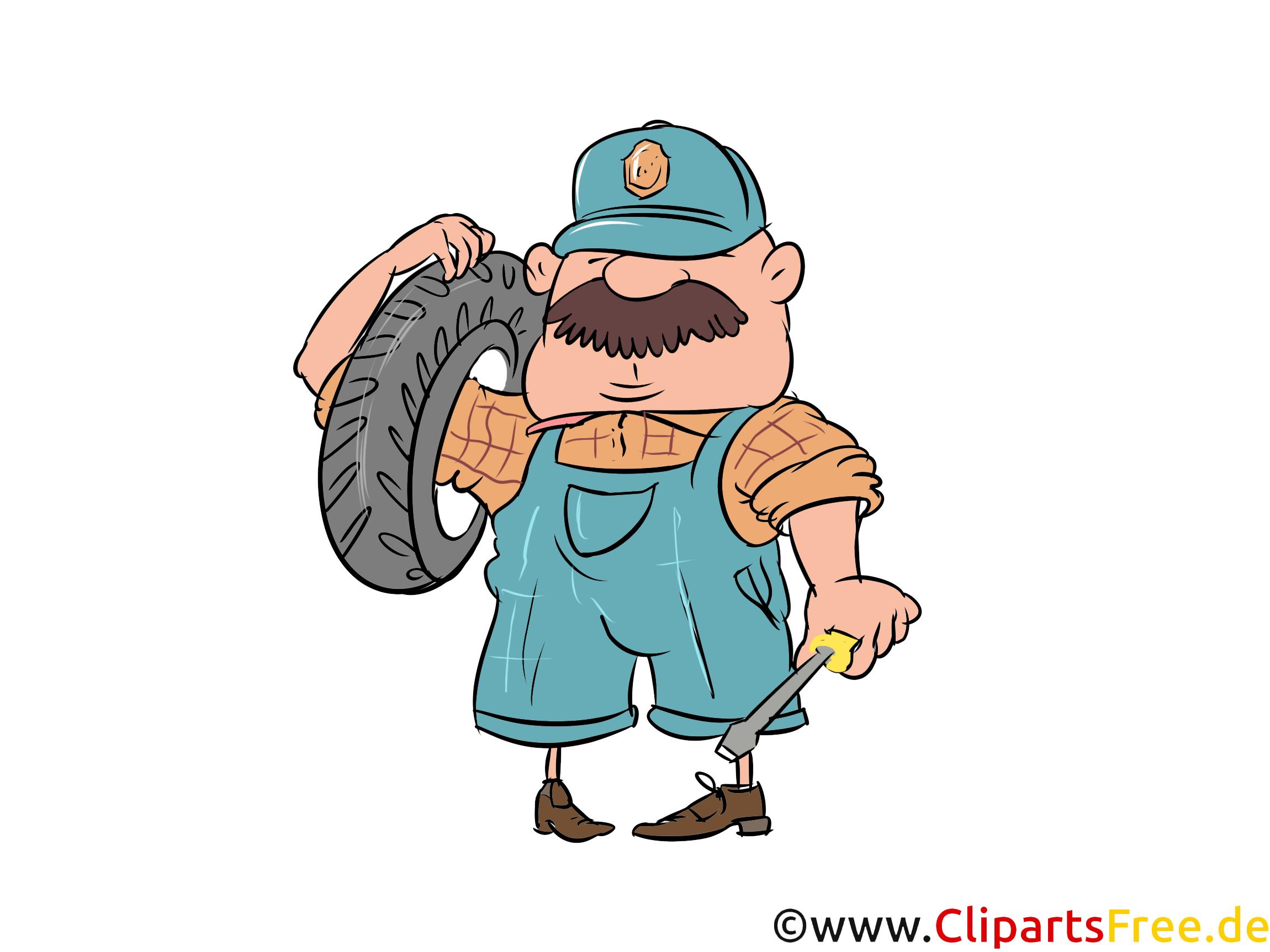 Reifenservice Bild, Illustration, Clipart, Cartoon gratis