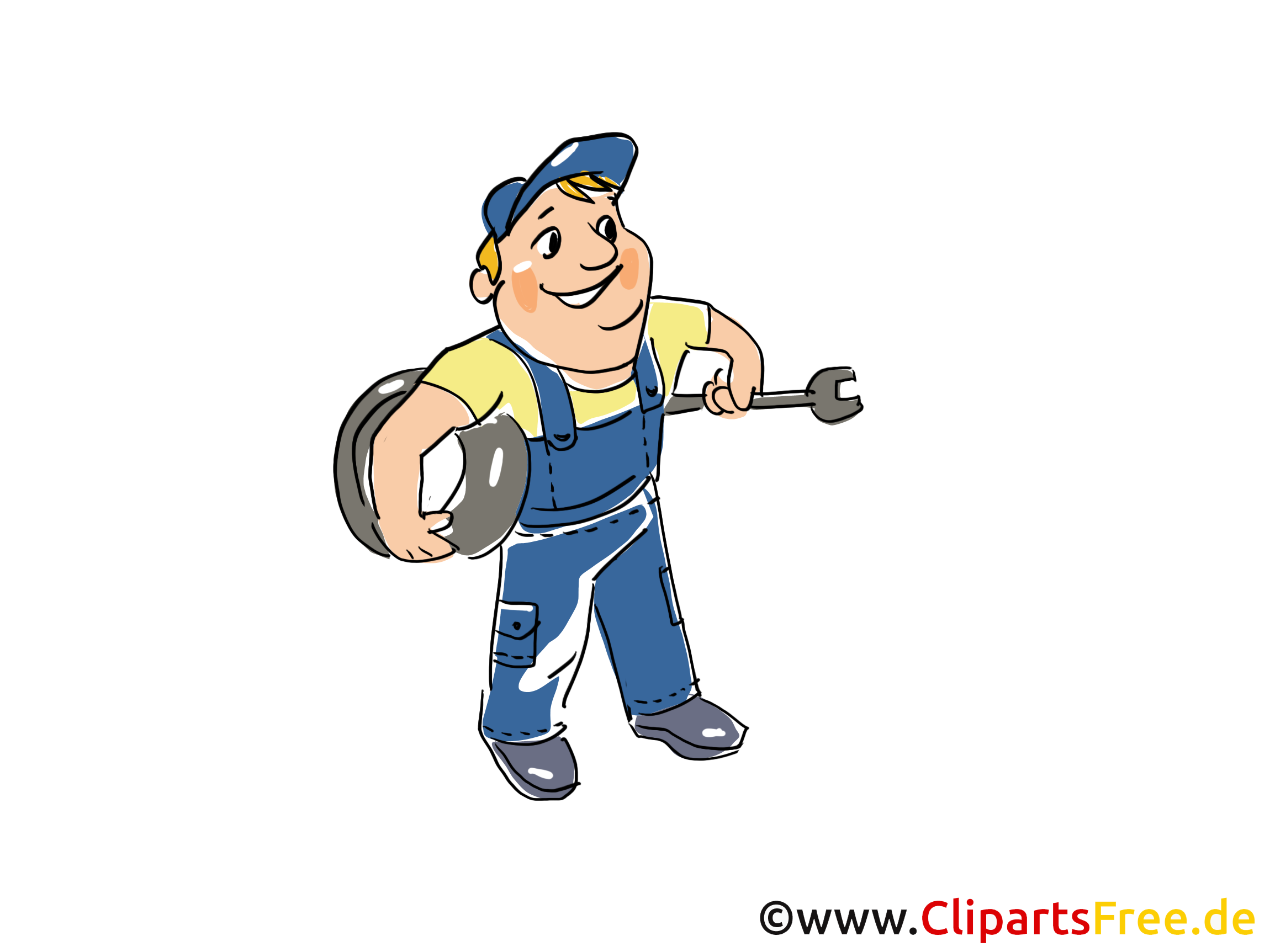 Reifenservice Clipart, Bild, Grafik, Cartoon, Illustration gratis