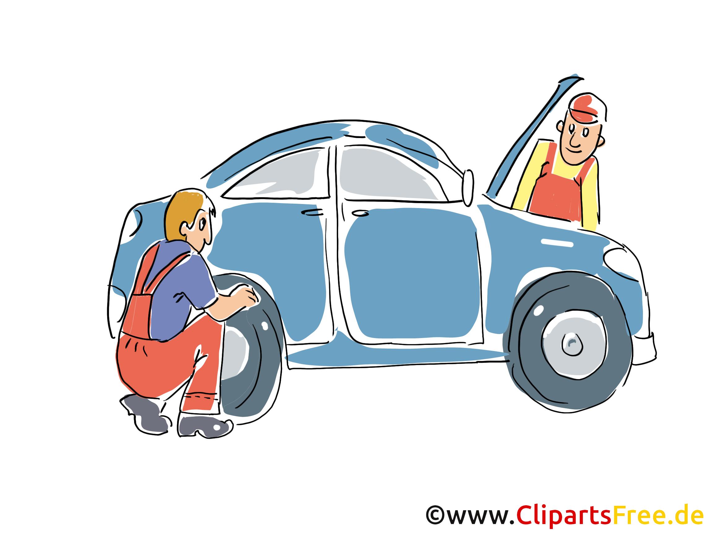 Reifeund Autoservice Clipart, Bild, Grafik, Cartoon, Illustration gratis