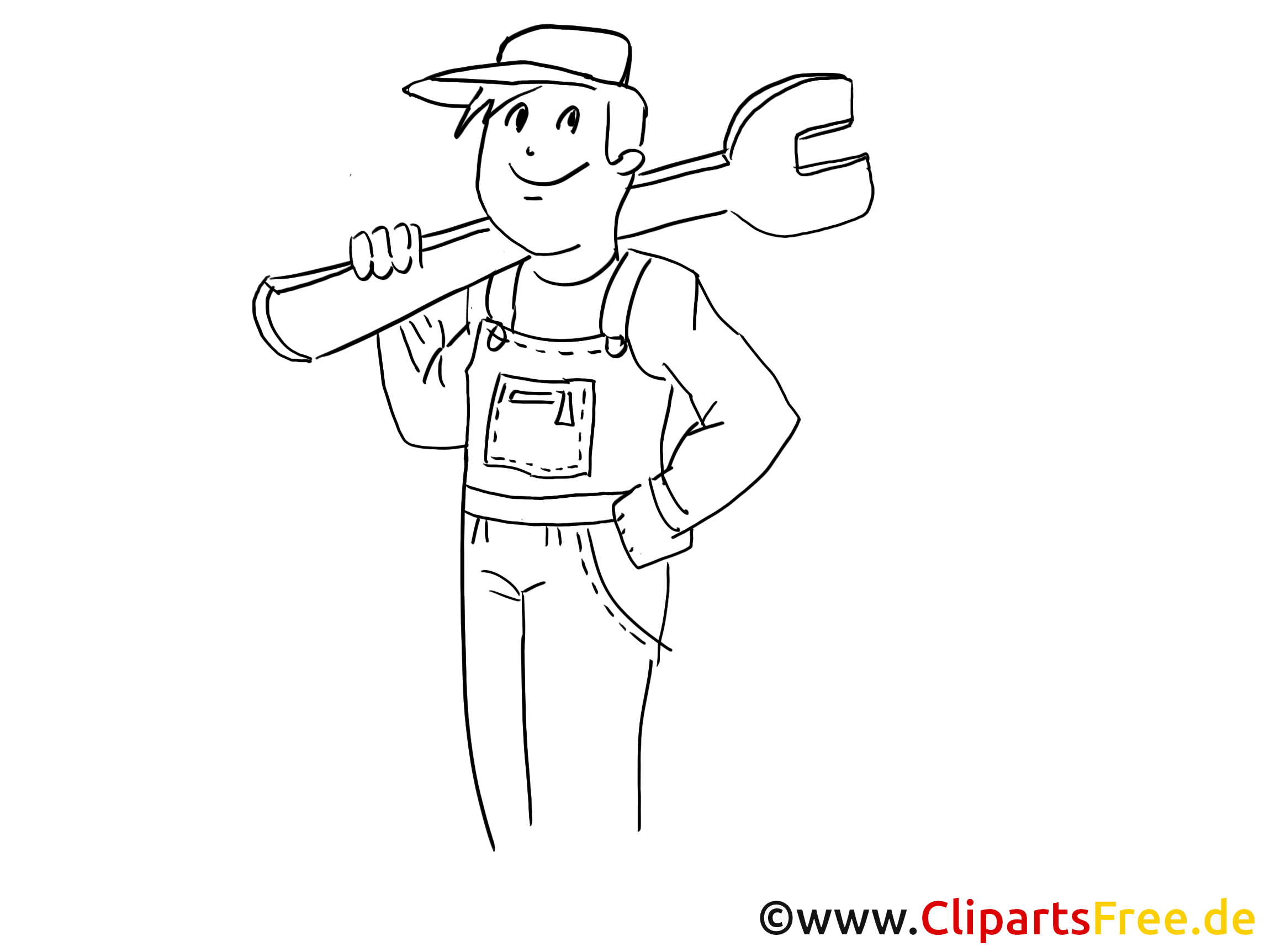 Repairman clip art, graphic, pic, cartoon, comic free
