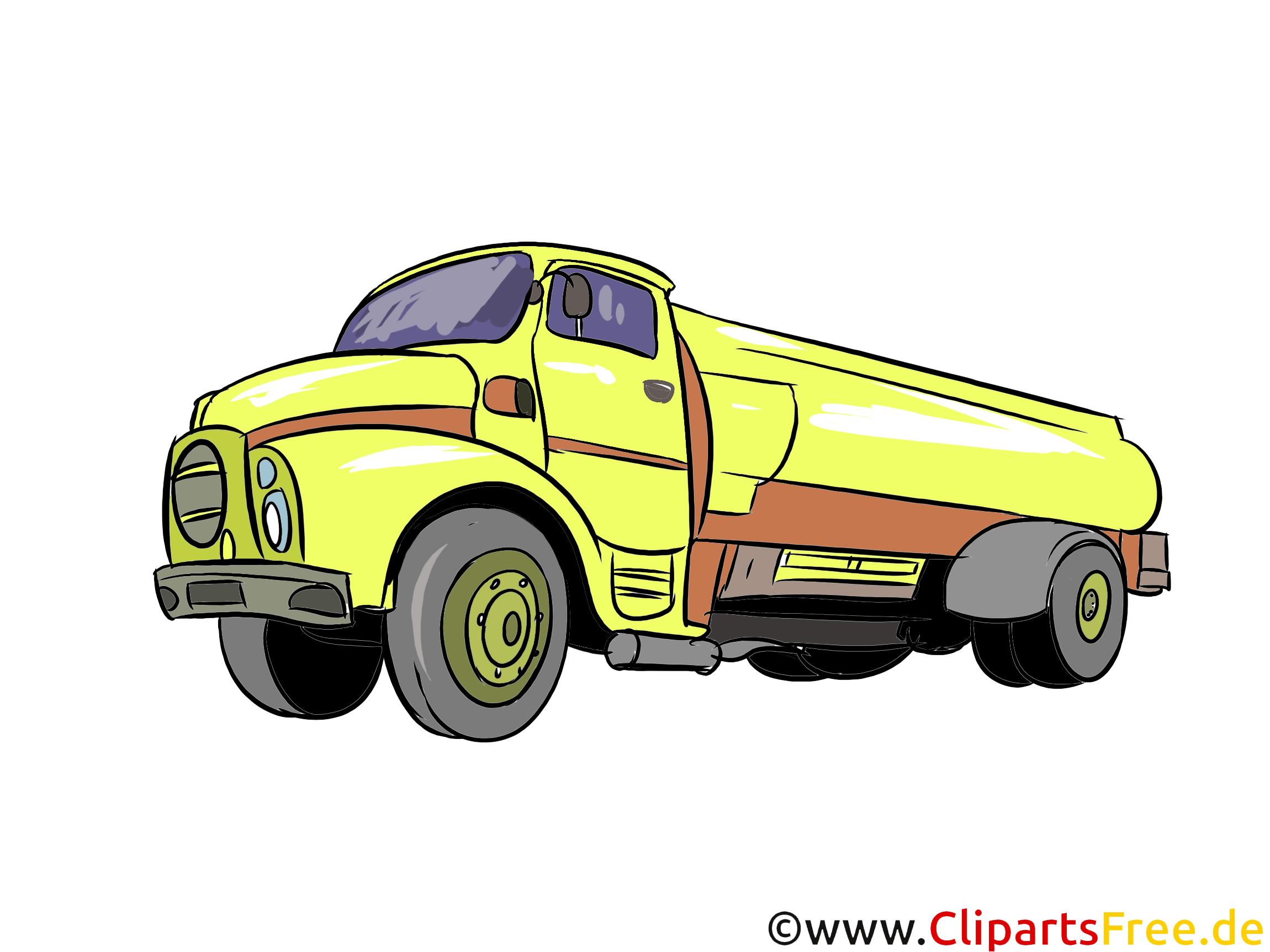 Tankwagen Illustration, Bild, Clipart Autos