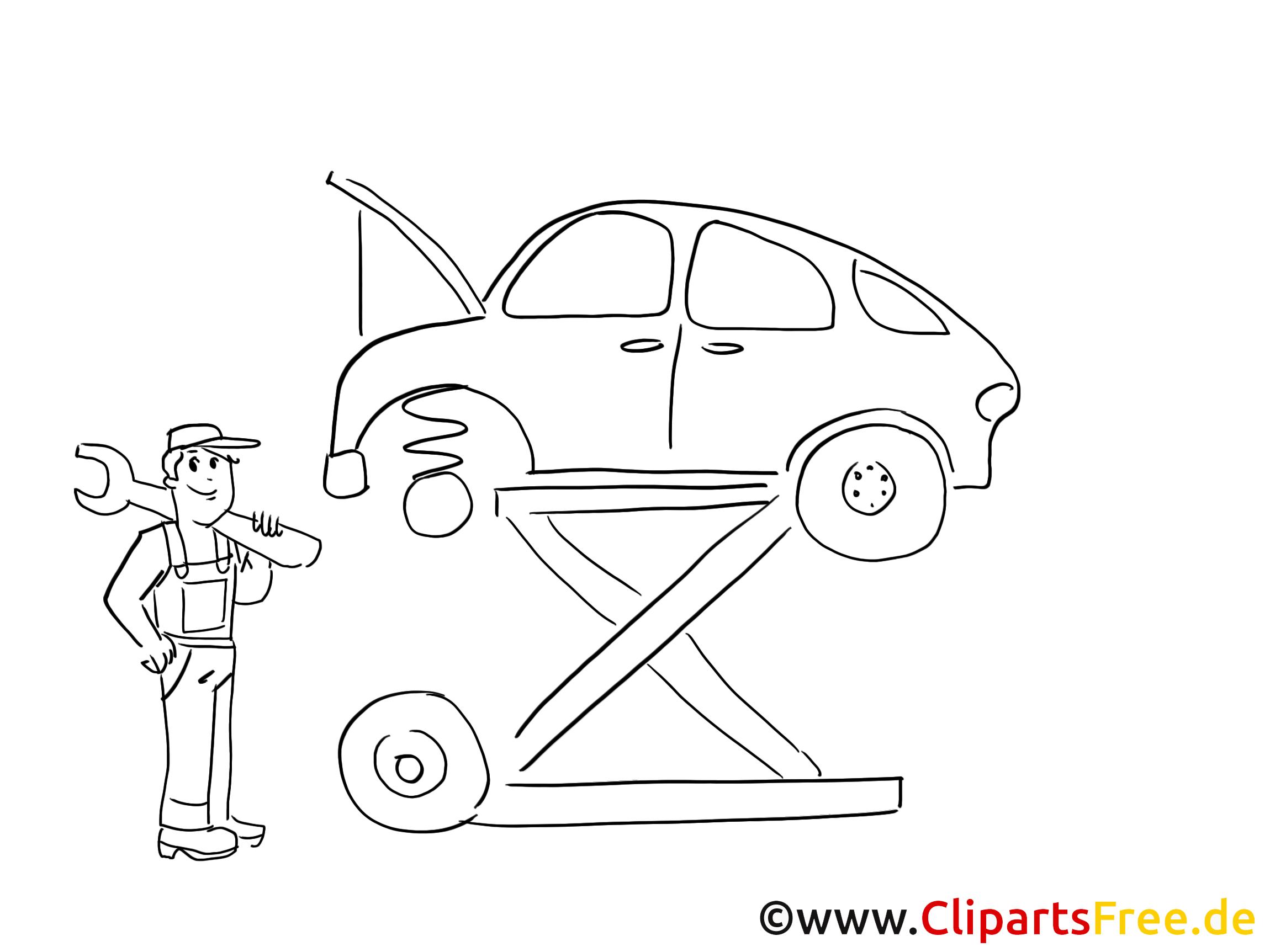Vehicle repair clip art, graphic, pic, cartoon, comic free