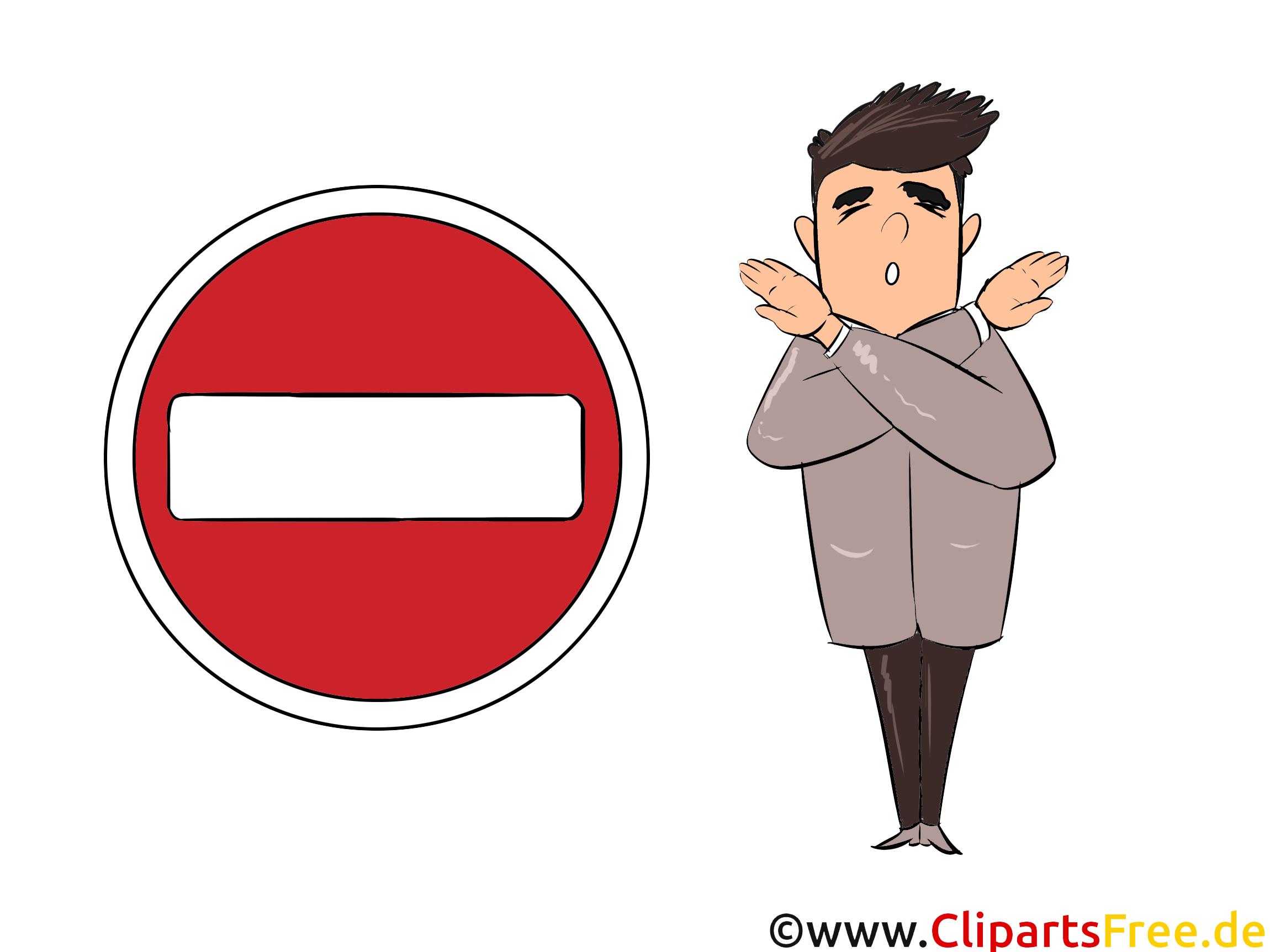 Verkehrszeichen Bilder - Verbot der Einfahrt