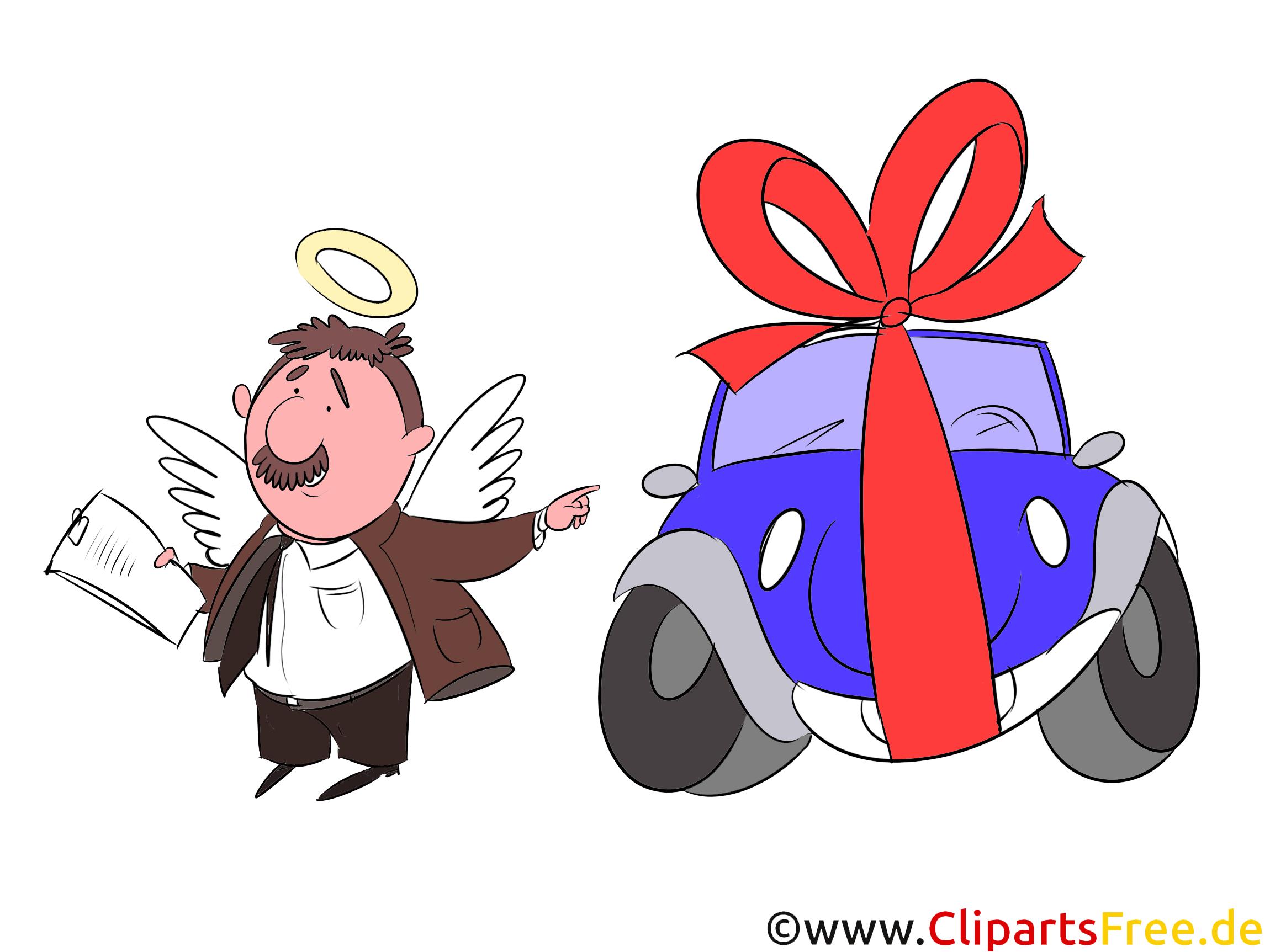 Vermittler Kredit für PKW Clipart, Bild, Grafik, Illustration