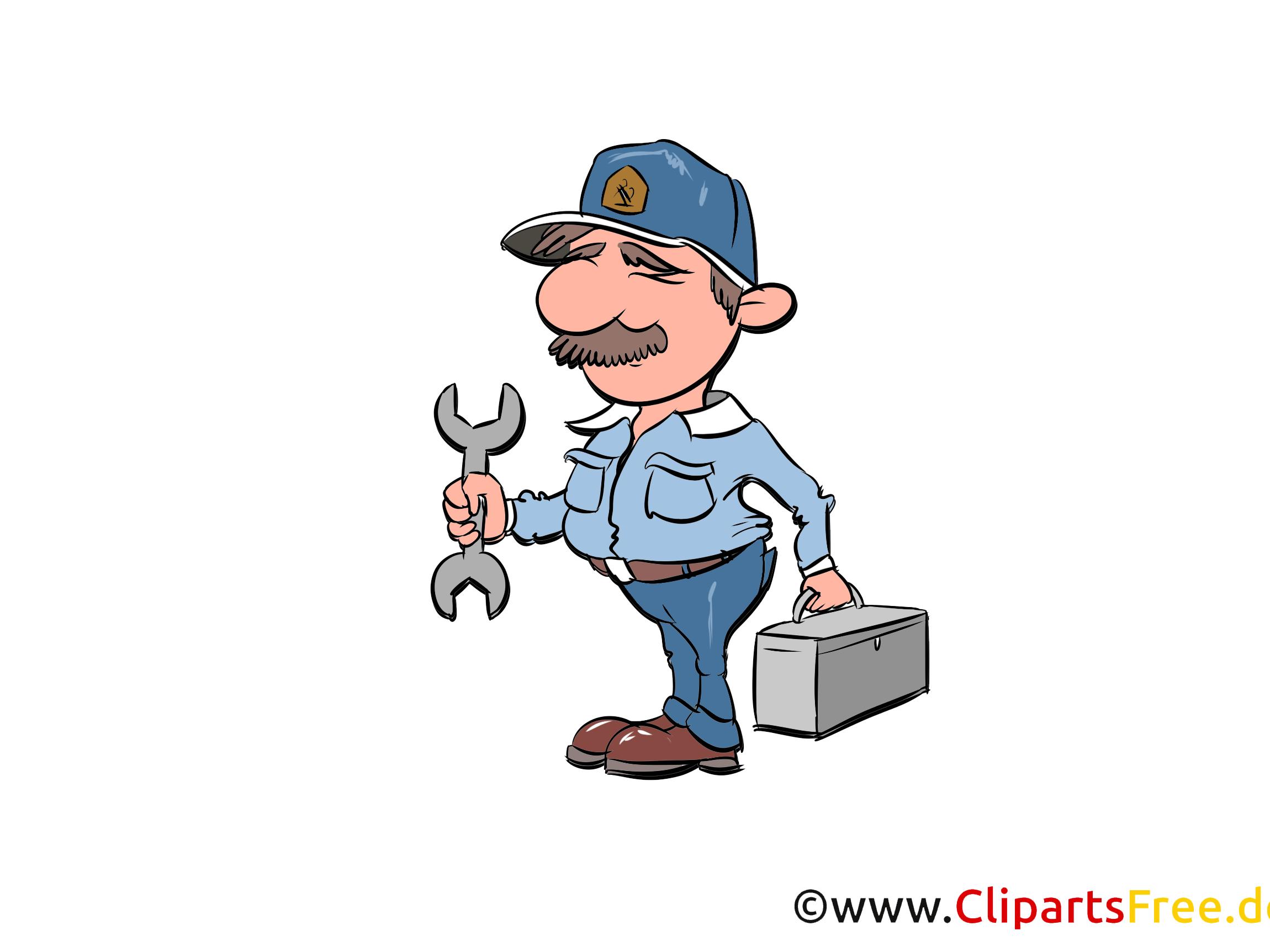 Werkstattmeister Bild, Illustration, Clipart, Cartoon gratis