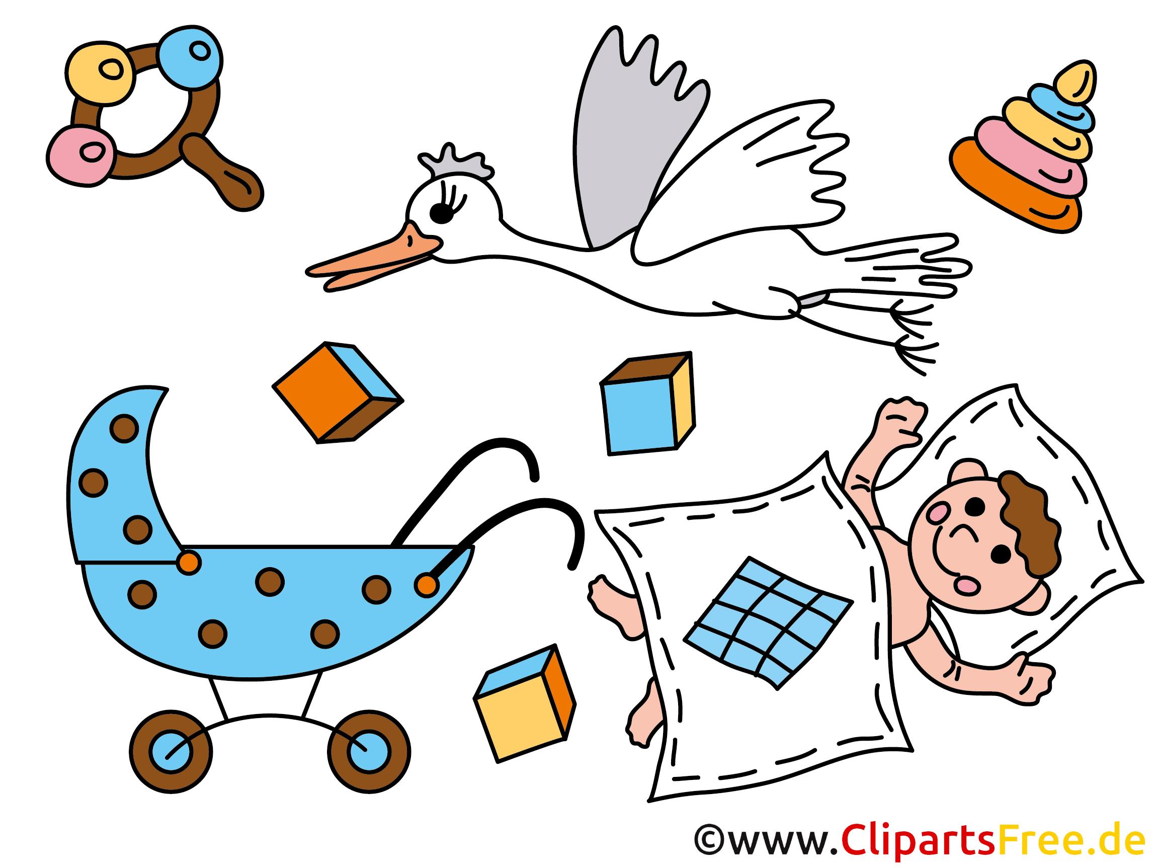 Comic Baby - Kostenlose Bilder für Kindergarten