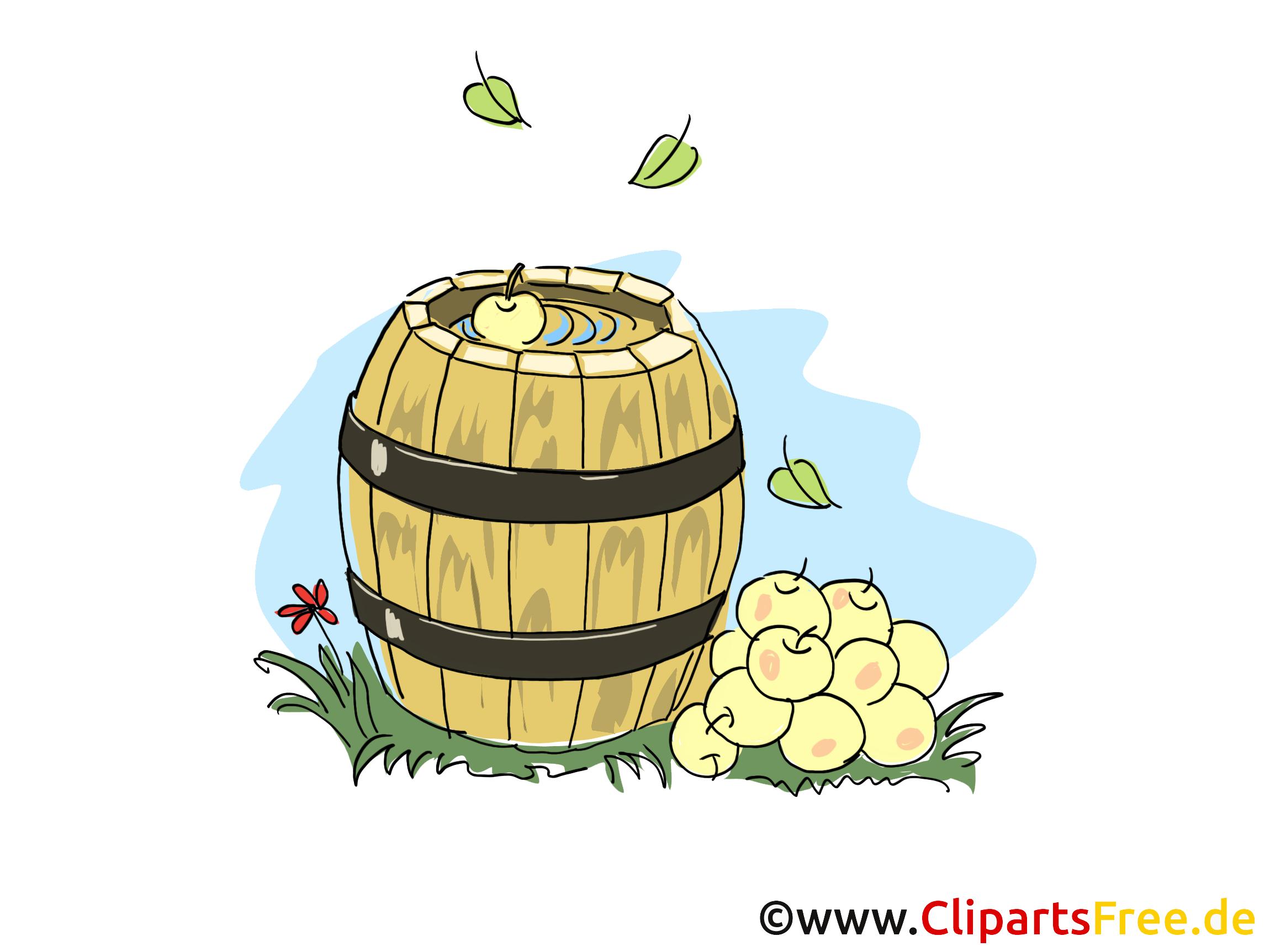 Äpfelernte im Herbst Cliparts, Bilder, Grafiken