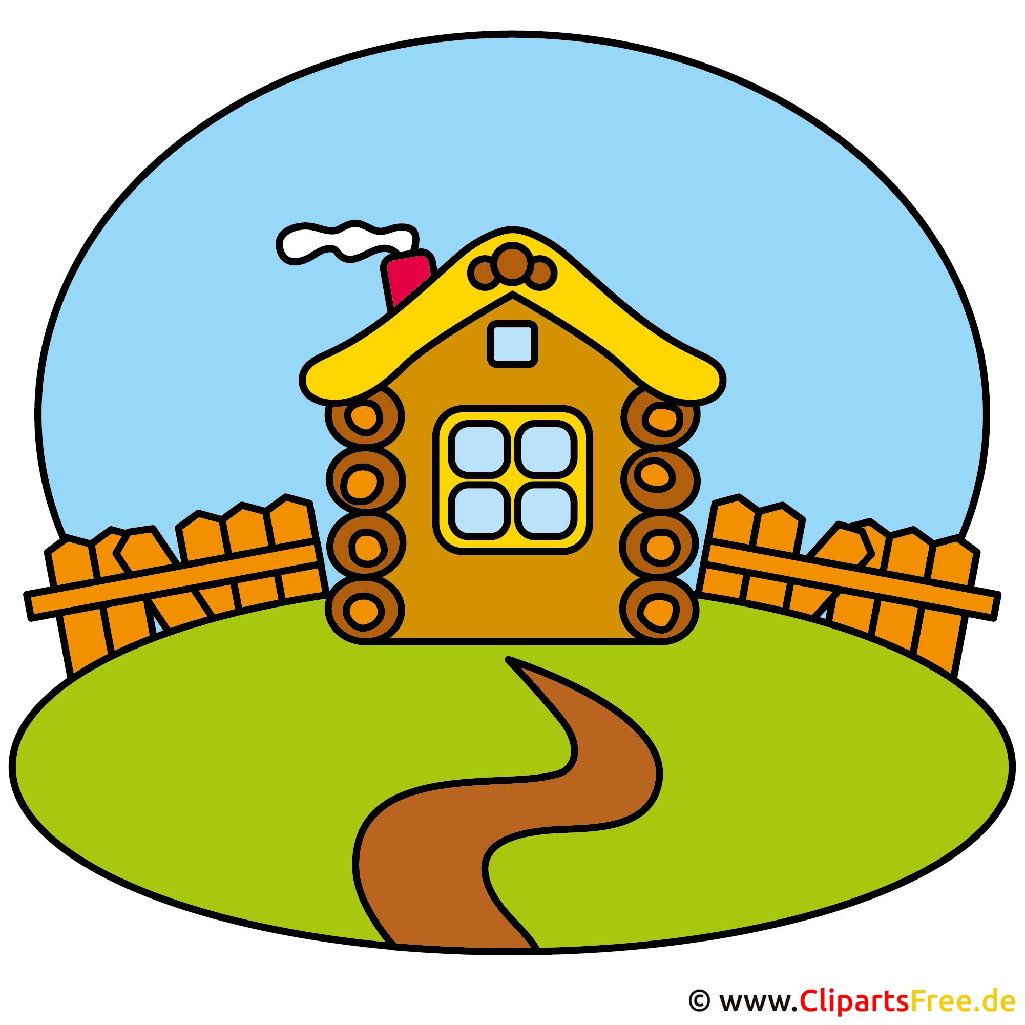 Bauernhaus Bild Clipart kostenlos