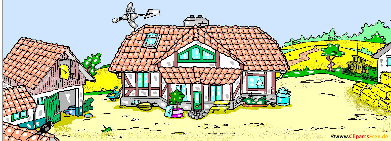 Bauernhof Comic-Illustration