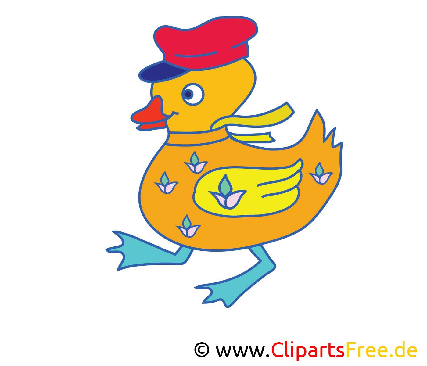 Ente Cartoon, Bild, Clipart free