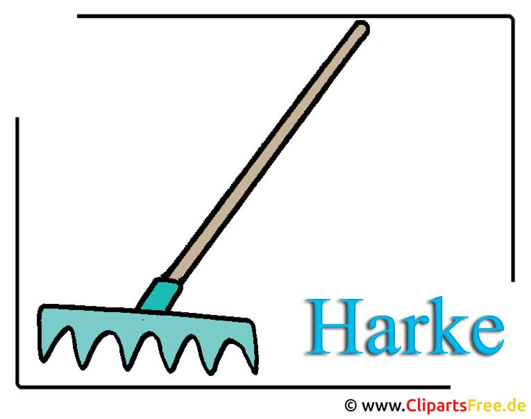 Gartenwerkzeug Clipart Harke