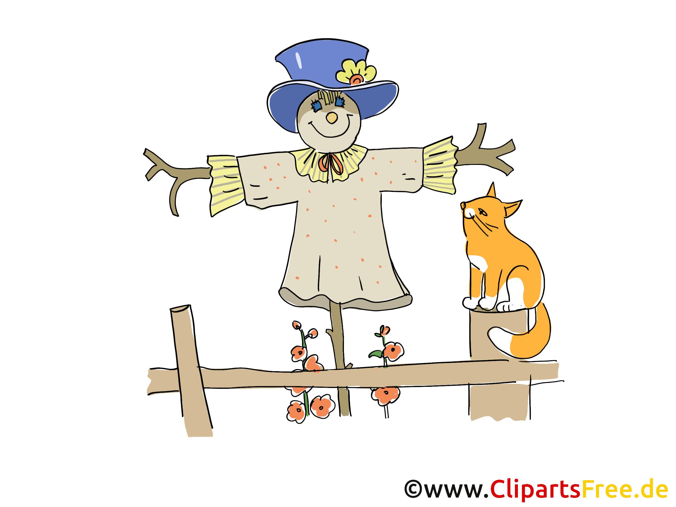 Gratis Clipart Vogelscheuhe