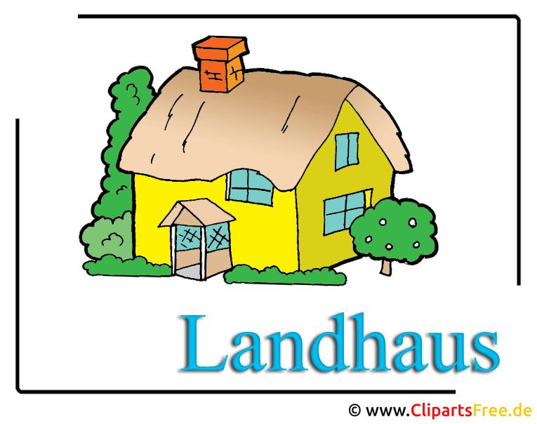 Haus Clipart-Cartoon free