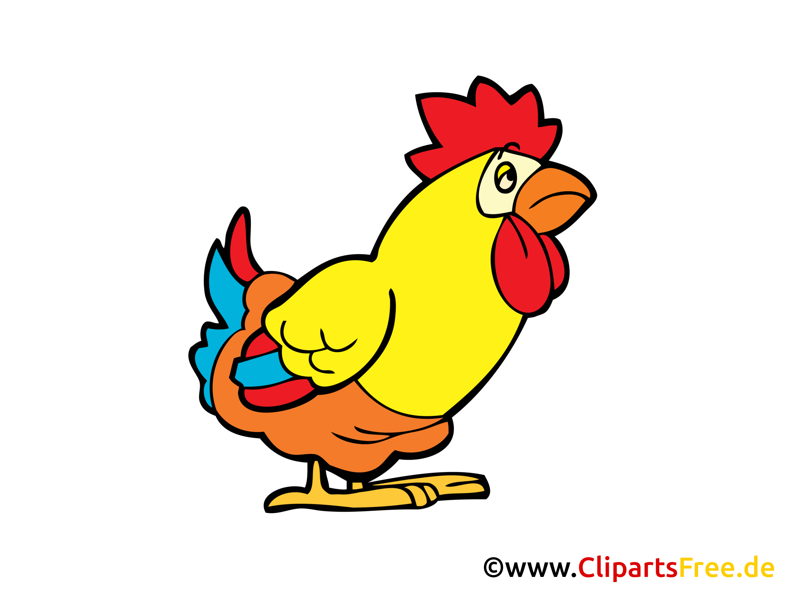 Huhn Bild, Cartoon, Comic, Clipart, Grafik gratis