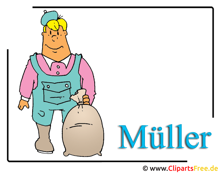 Müller Clipart-Cartoon free