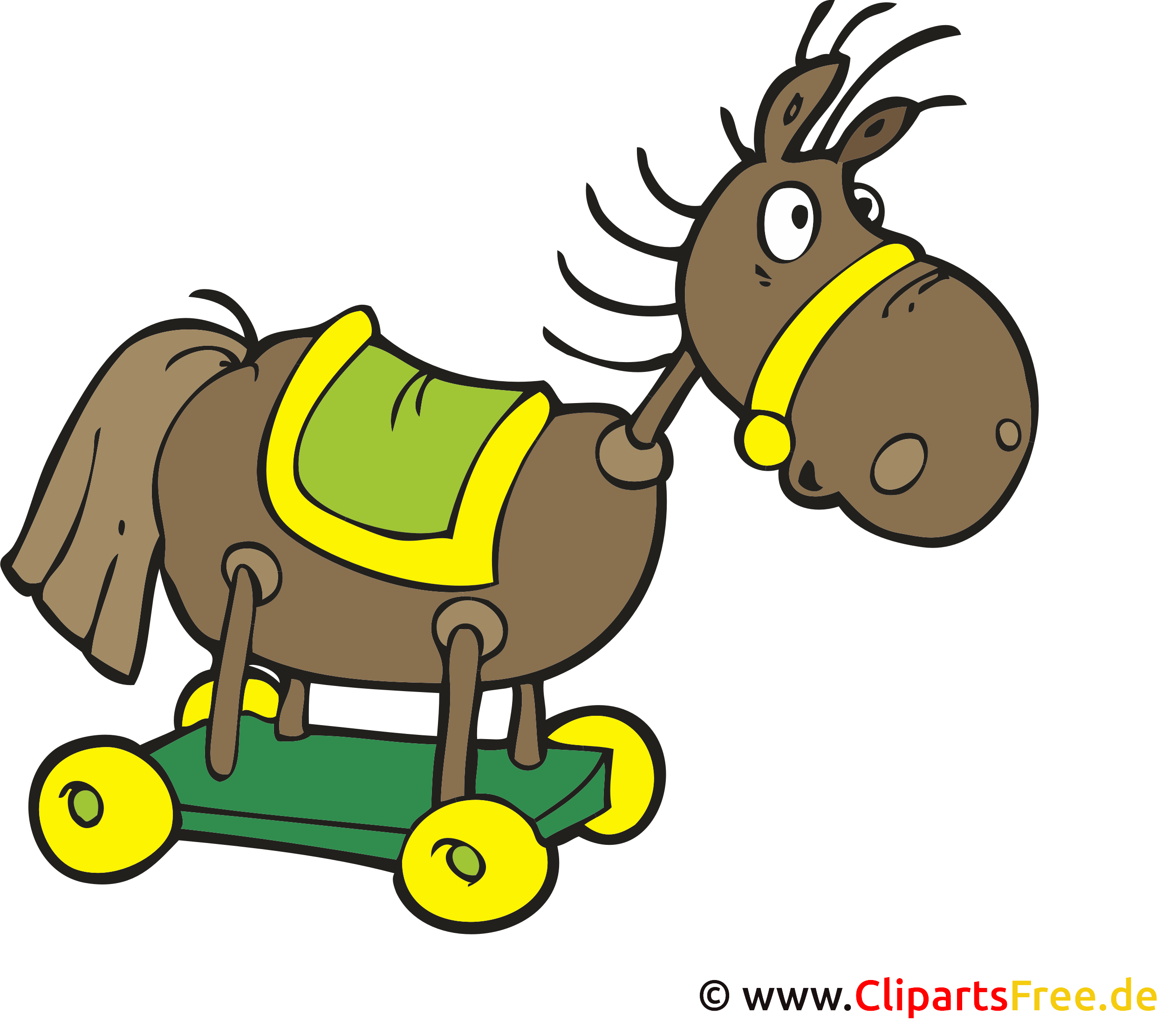 Pferdschauckel spielzeug cartoon bild clipart illustration