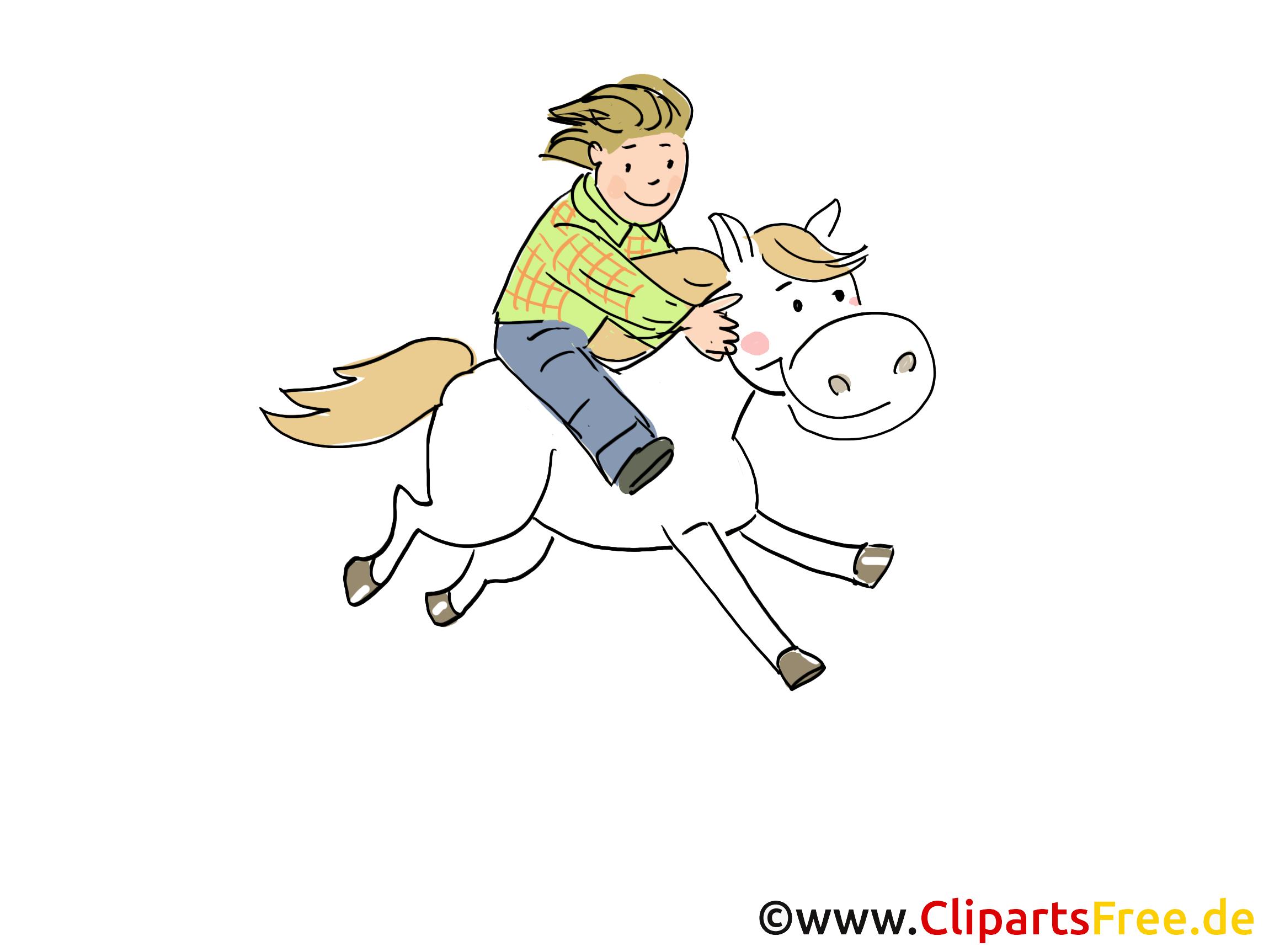 Reiten Clipart, Cartoon, Bild, Grafik, Zeichnung