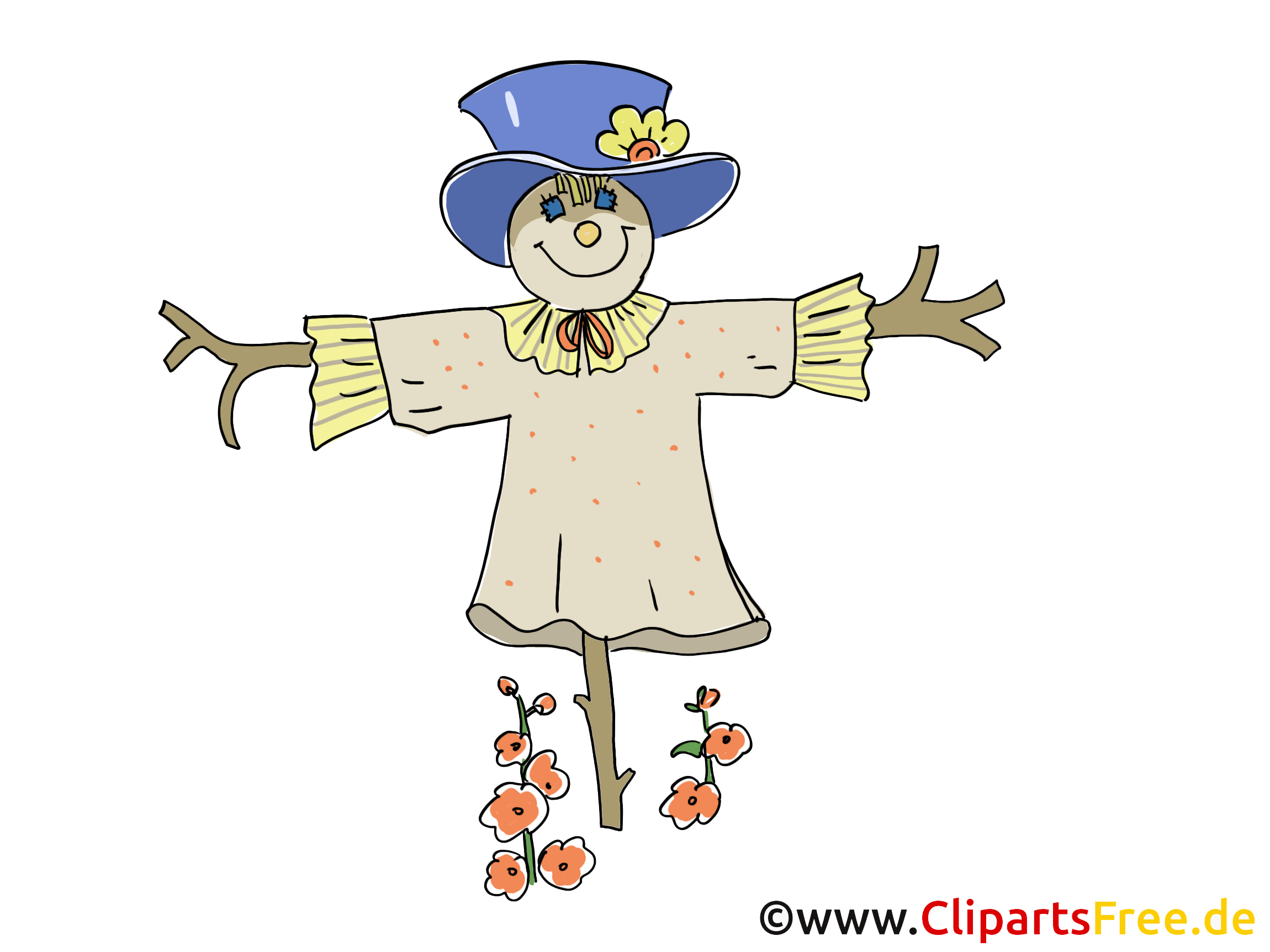 Scheuche Bild, Cartoon, Clipart gratis