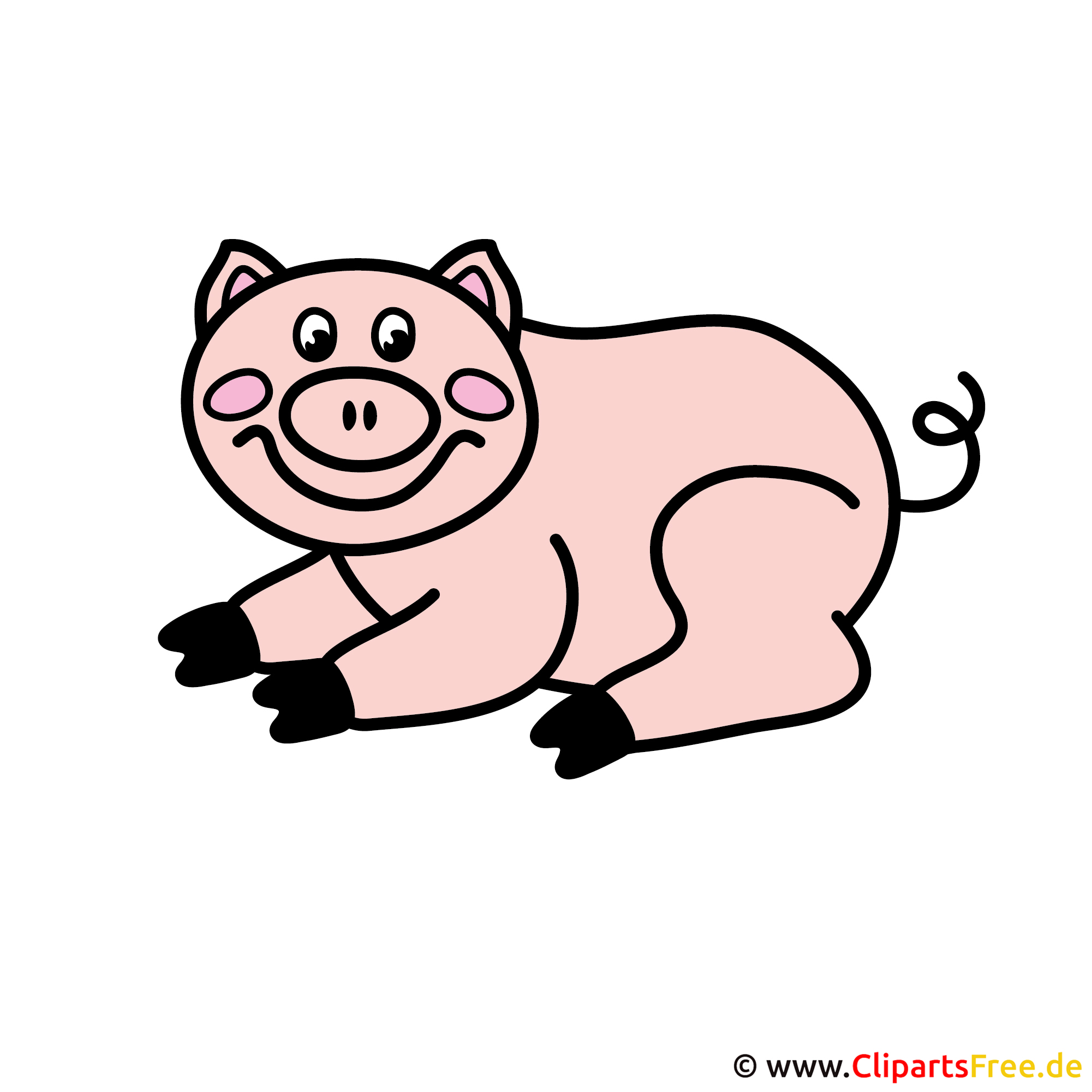 Schwein Clipart - Bilder Tiere Bauernhof