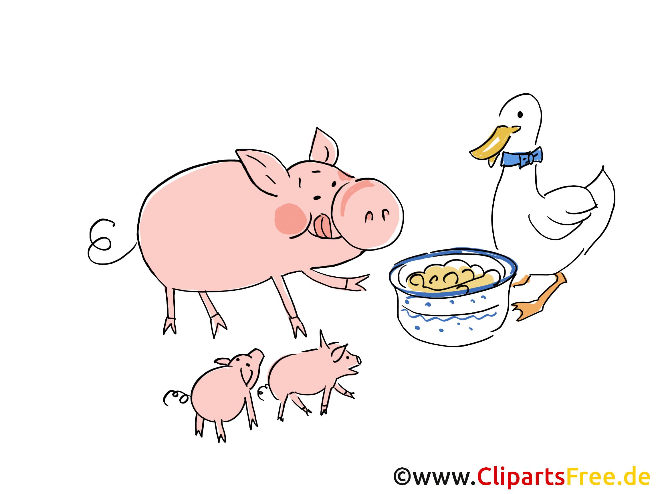 Tiere Bauernhof Cliparts