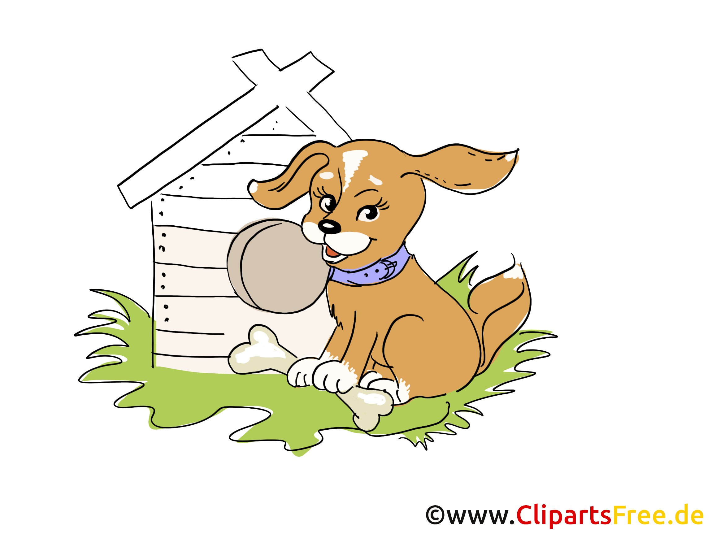 Wachhund Clipart, Bild, Cartoon