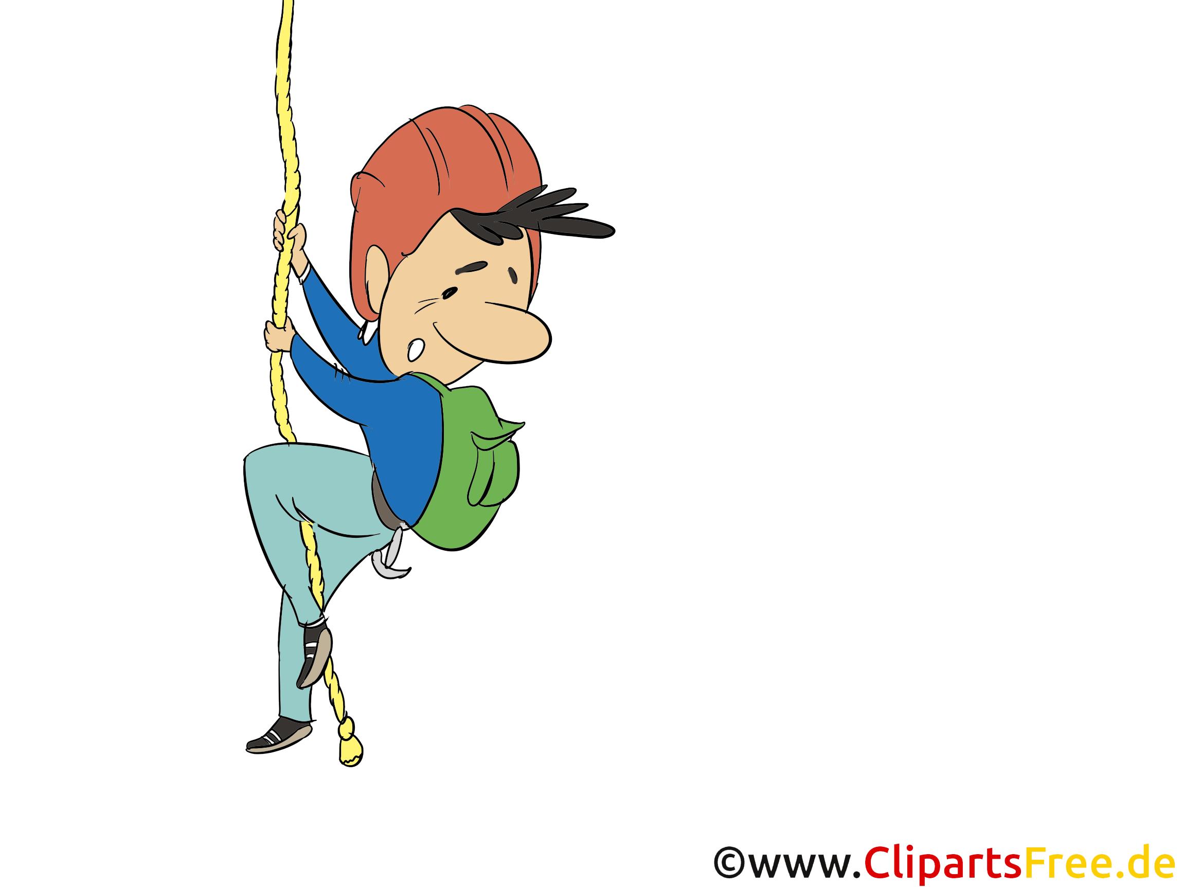 Alpinist, Bergsteiger Clipart, Bild, Illustration