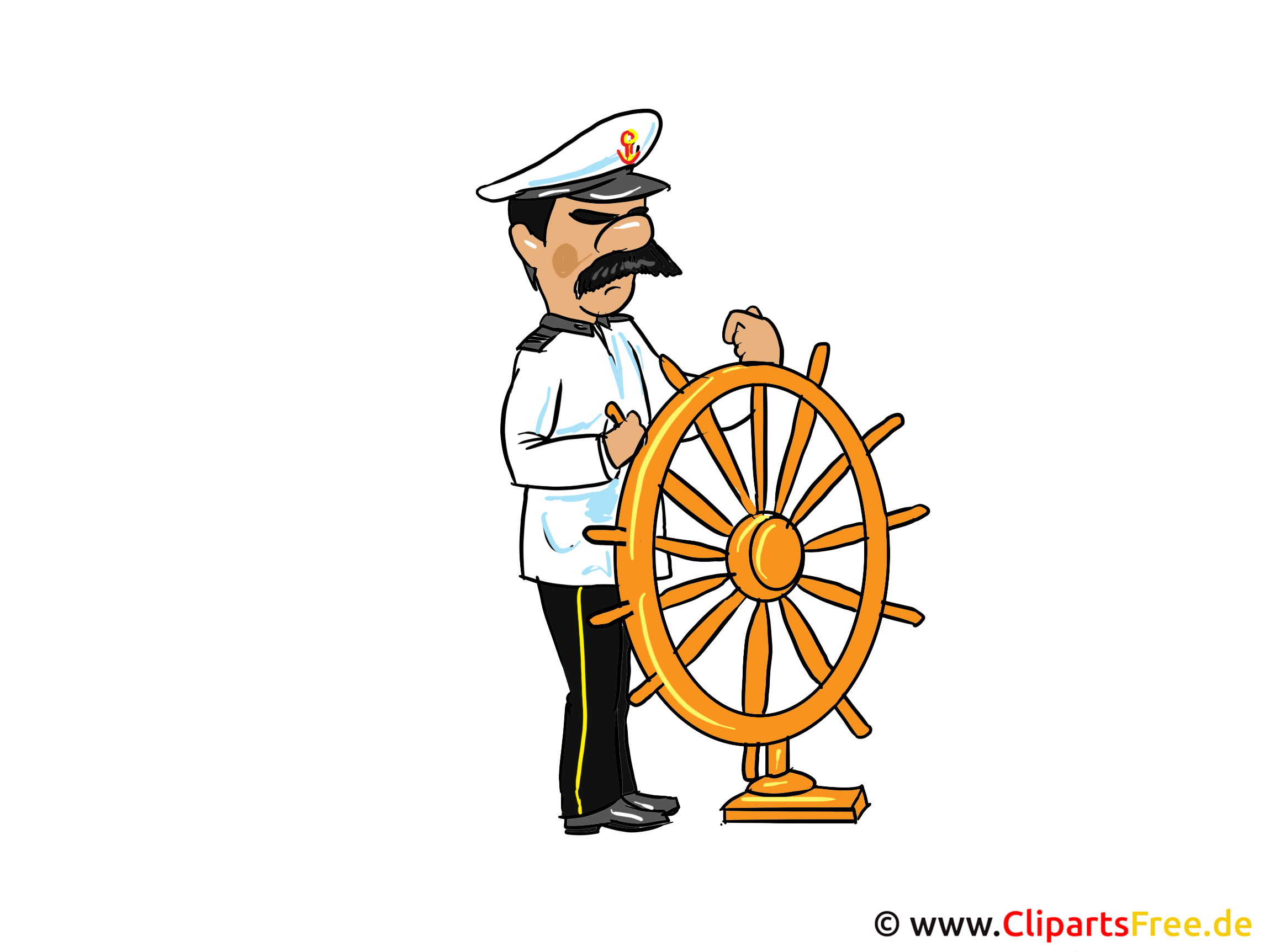 Kapitän Bild, Clipart, Cartoon, Illustration kostenlos