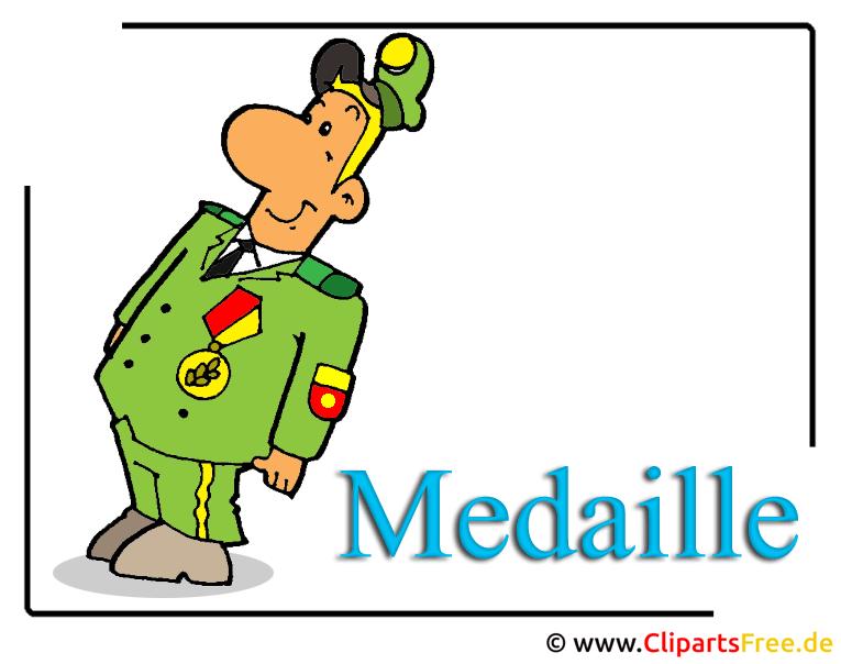 Medaille Bild-Clipart free - Armee Bilder kostenlos