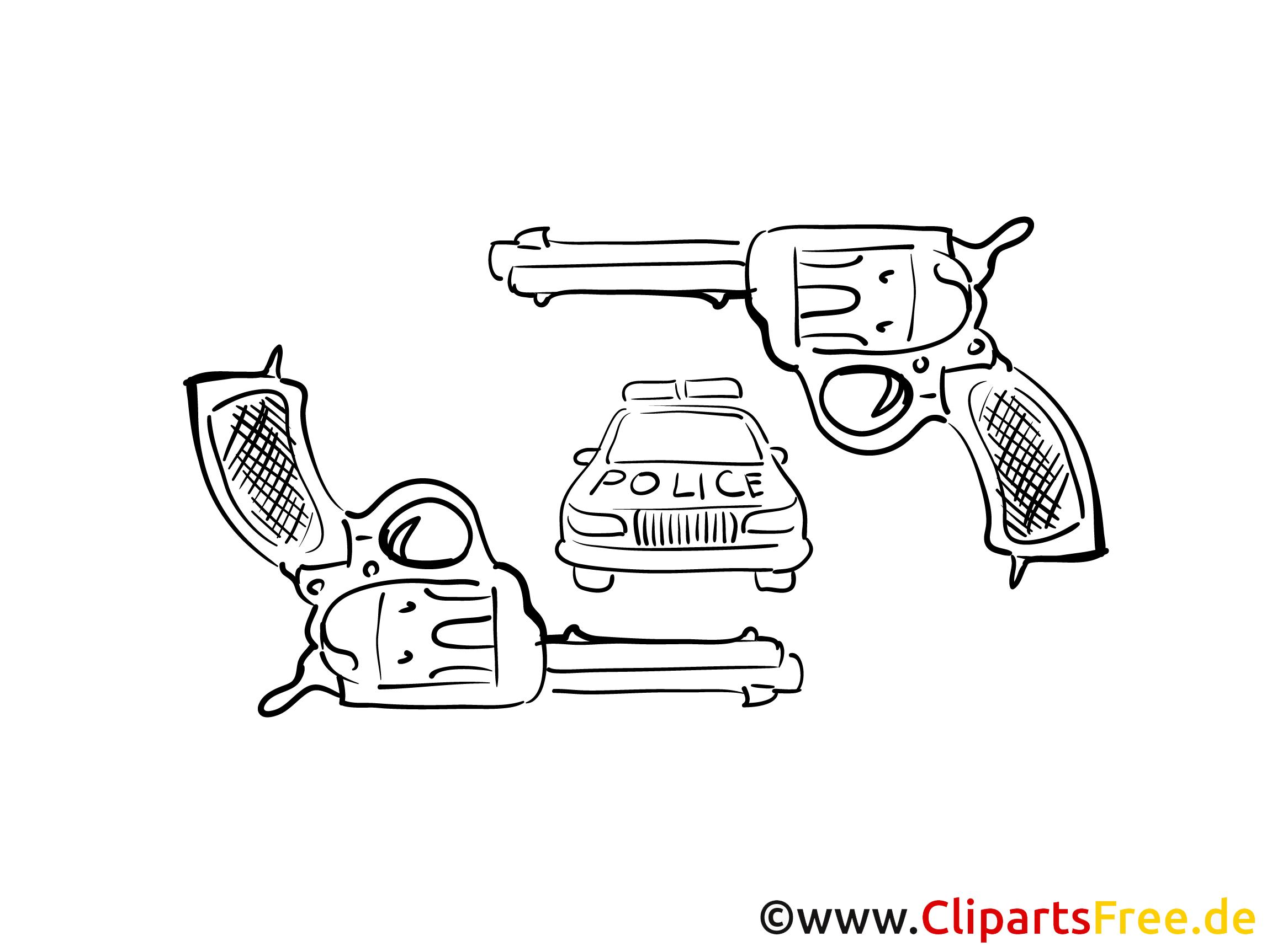 Revolver Clipart Polizeiauto
