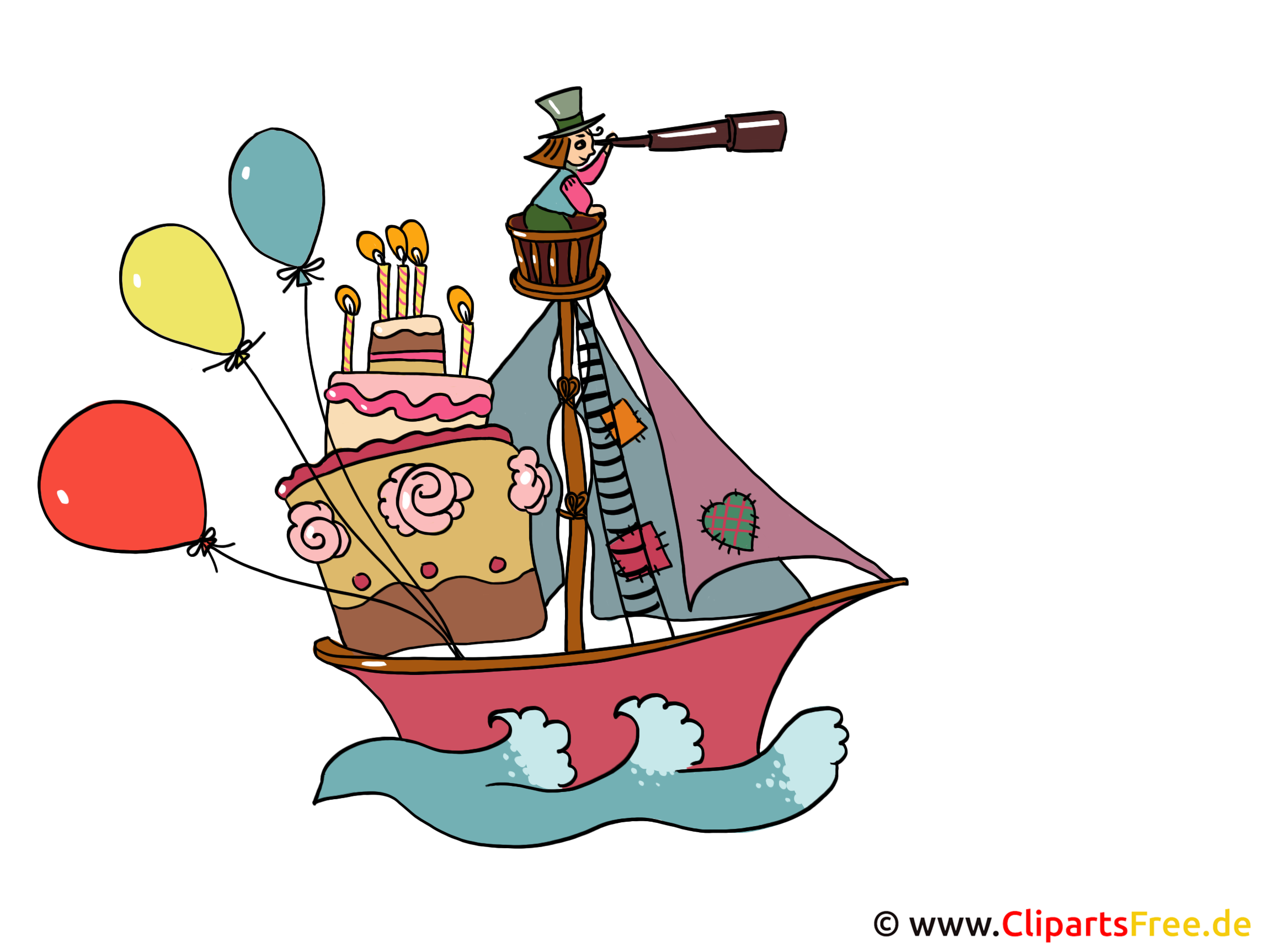 Segelschiff Cartoon Bild