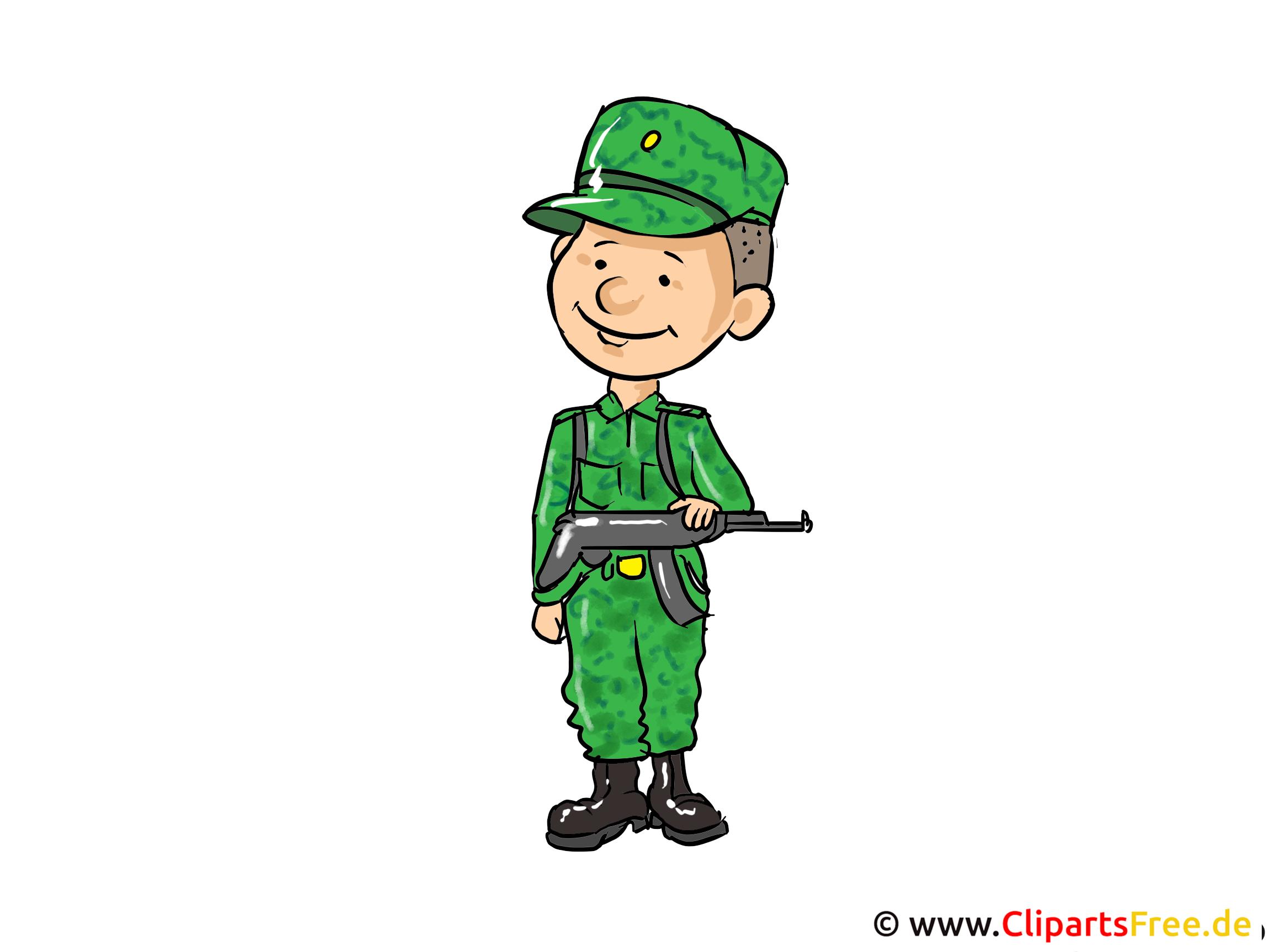 Soldat Bild, Clipart, Cartoon, Illustration kostenlos