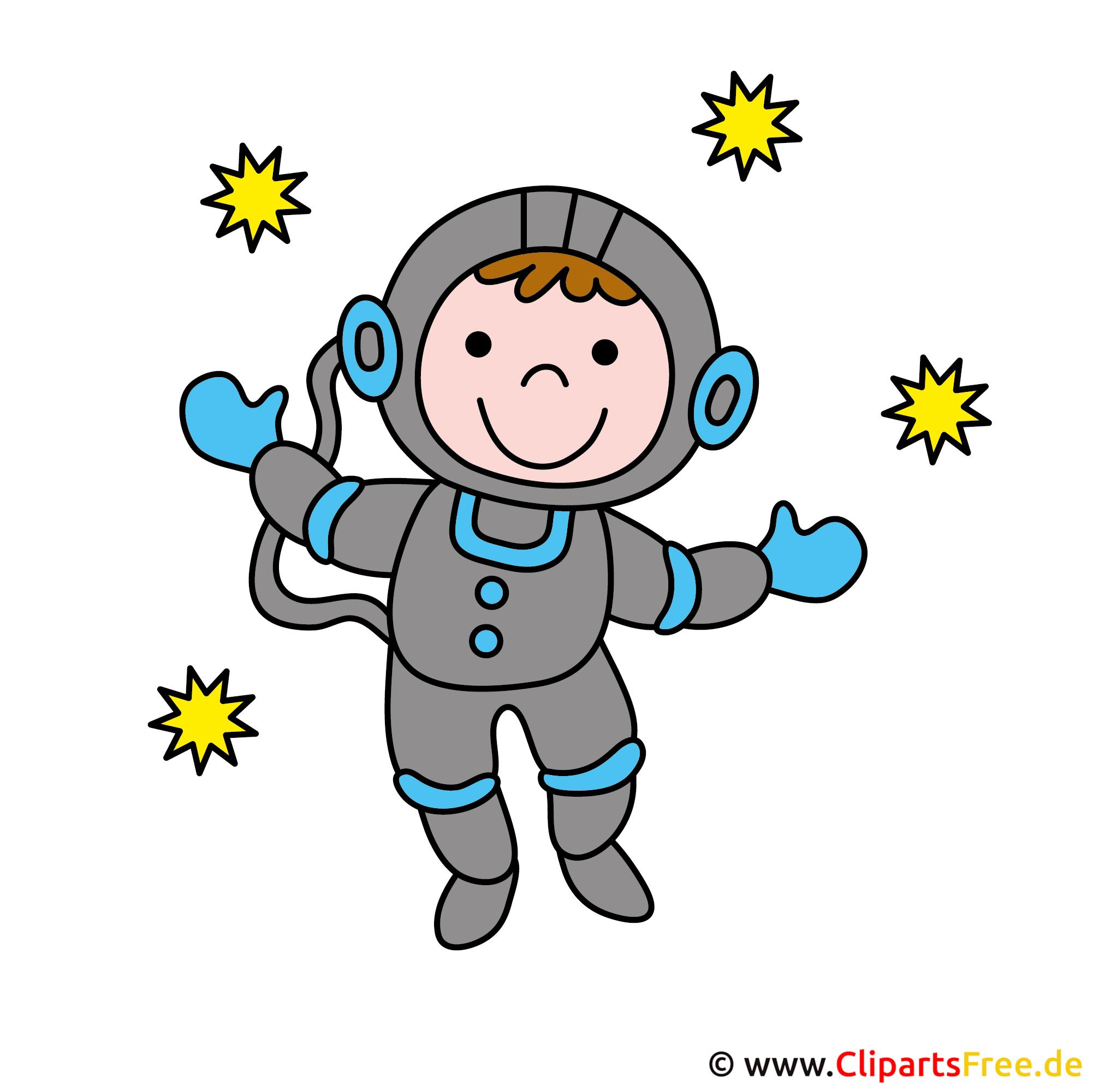 Kosmonaut Clipart-Bild - Berufe Bilder