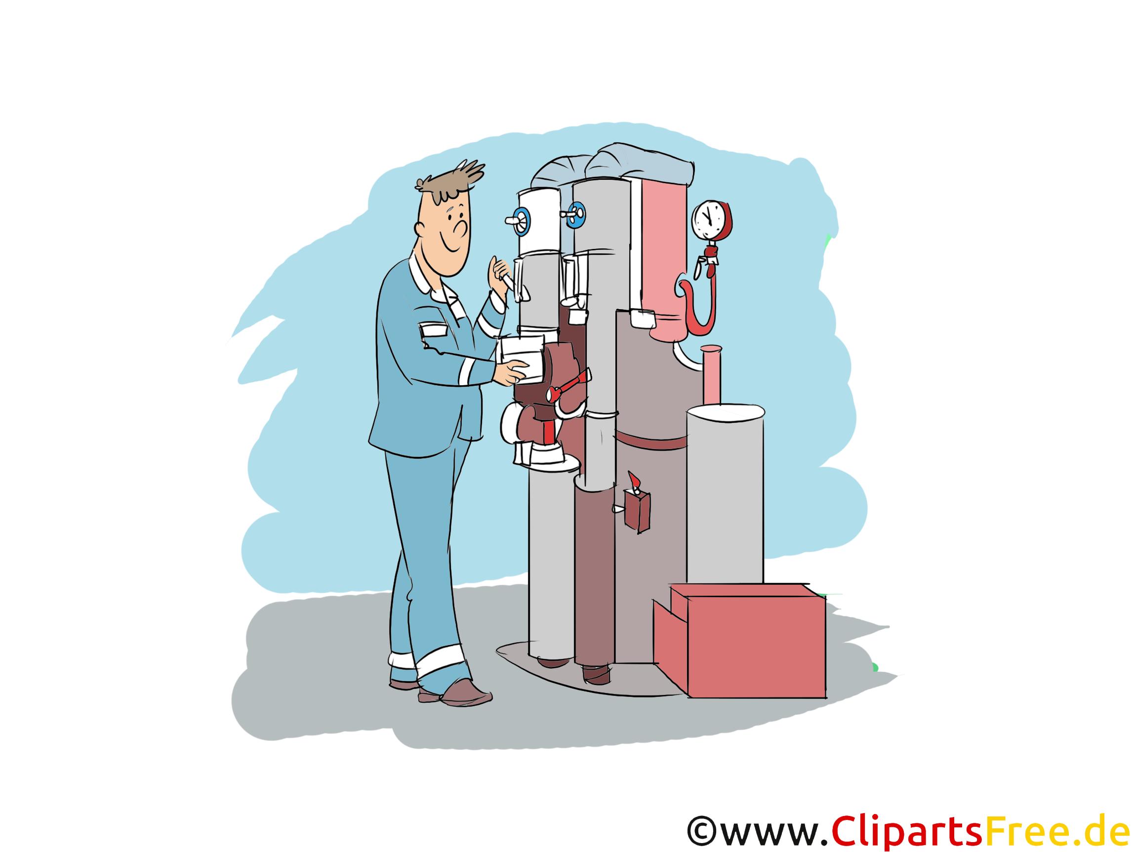 Anlagenmechaniker Clipart, Bild, Grafik zum Thema Ausbildungsberufe