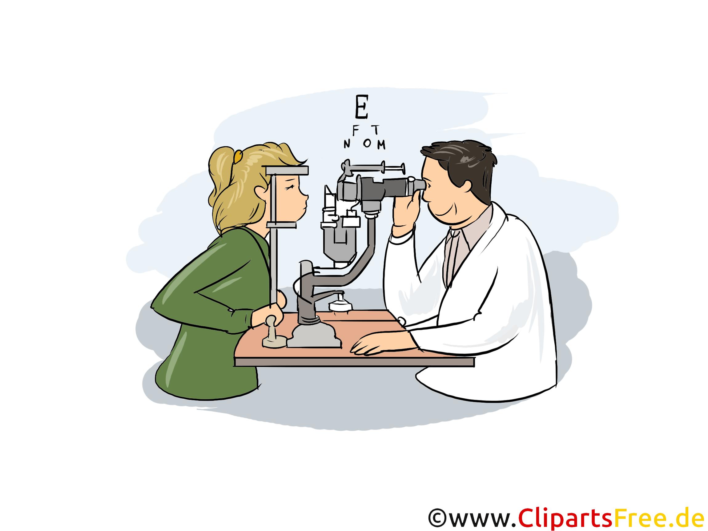 Augenoptiker Clipart, Bild, Grafik zum Thema Ausbildungsberufe
