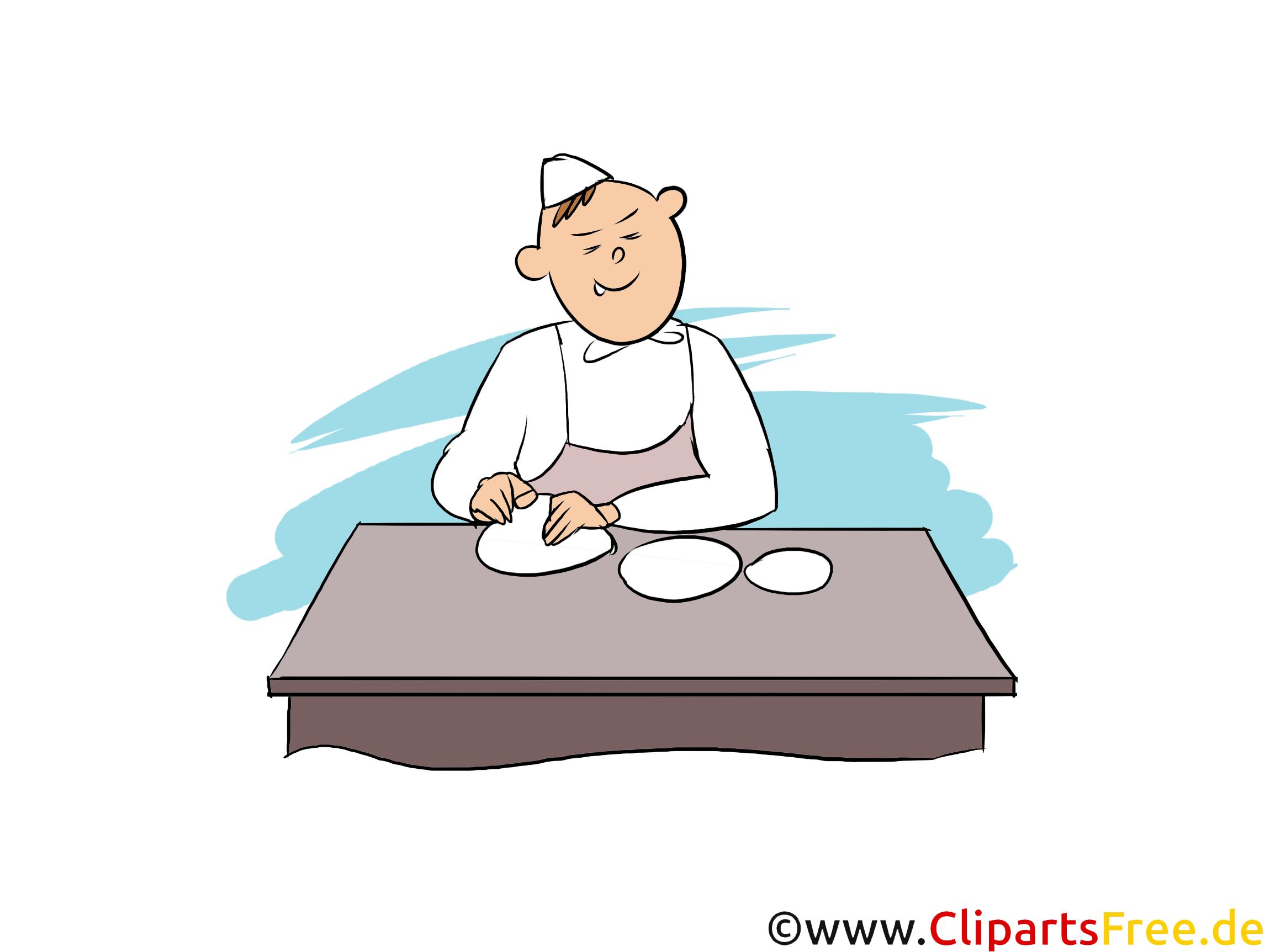 Bäcker Clipart, Bild, Grafik zum Thema Ausbildungsberufe
