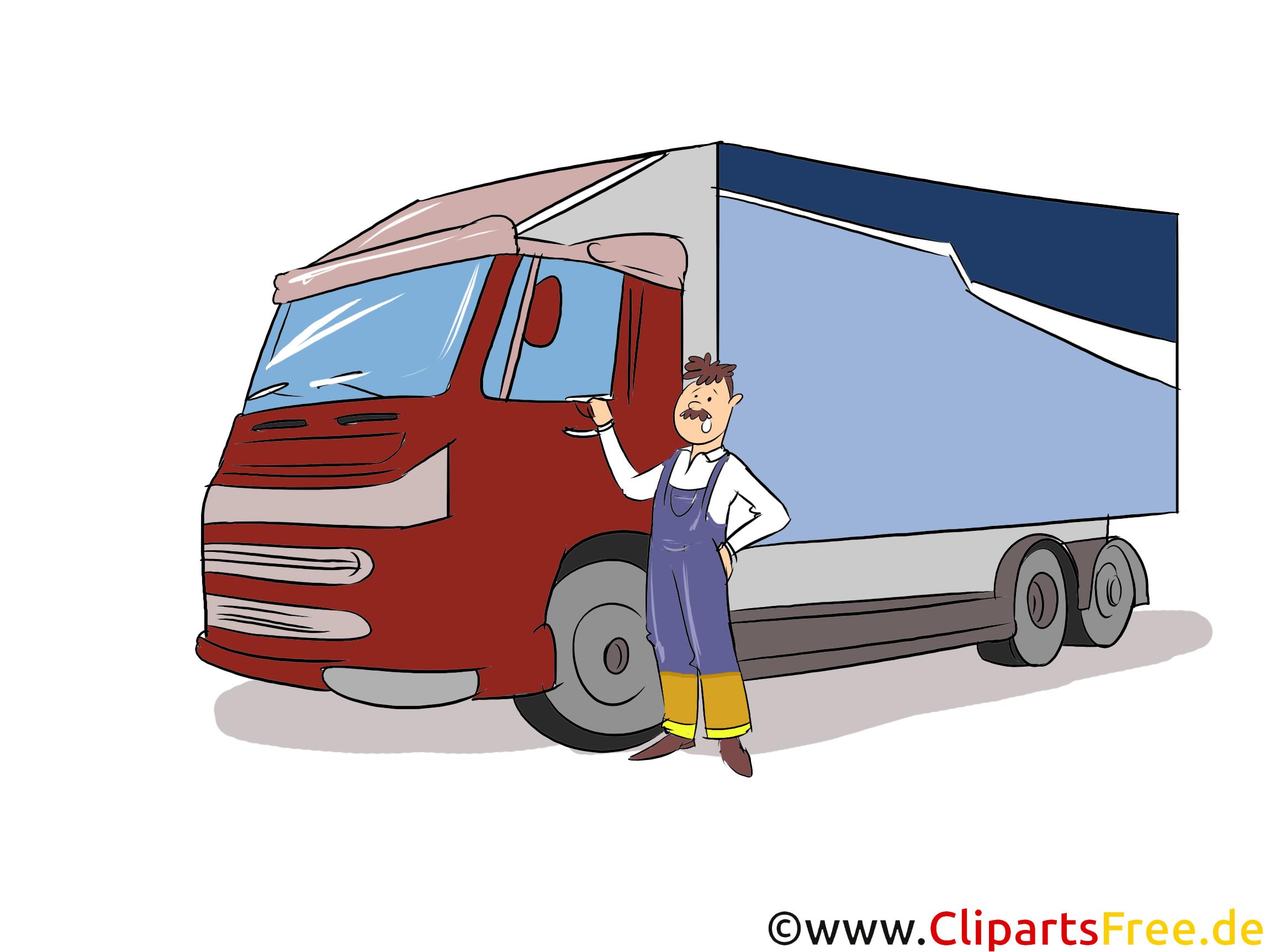 Berufskraftfahrer Clipart, Bild, Grafik zum Thema Ausbildungsberufe