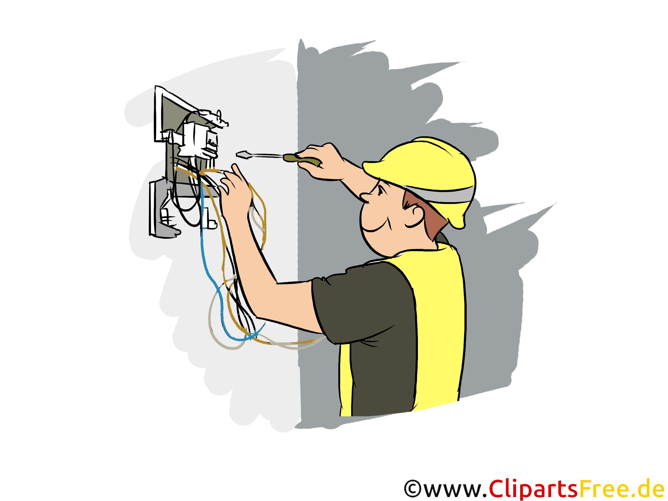 Elektriker Clipart, Bild, Grafik zum Thema Ausbildungsberufe