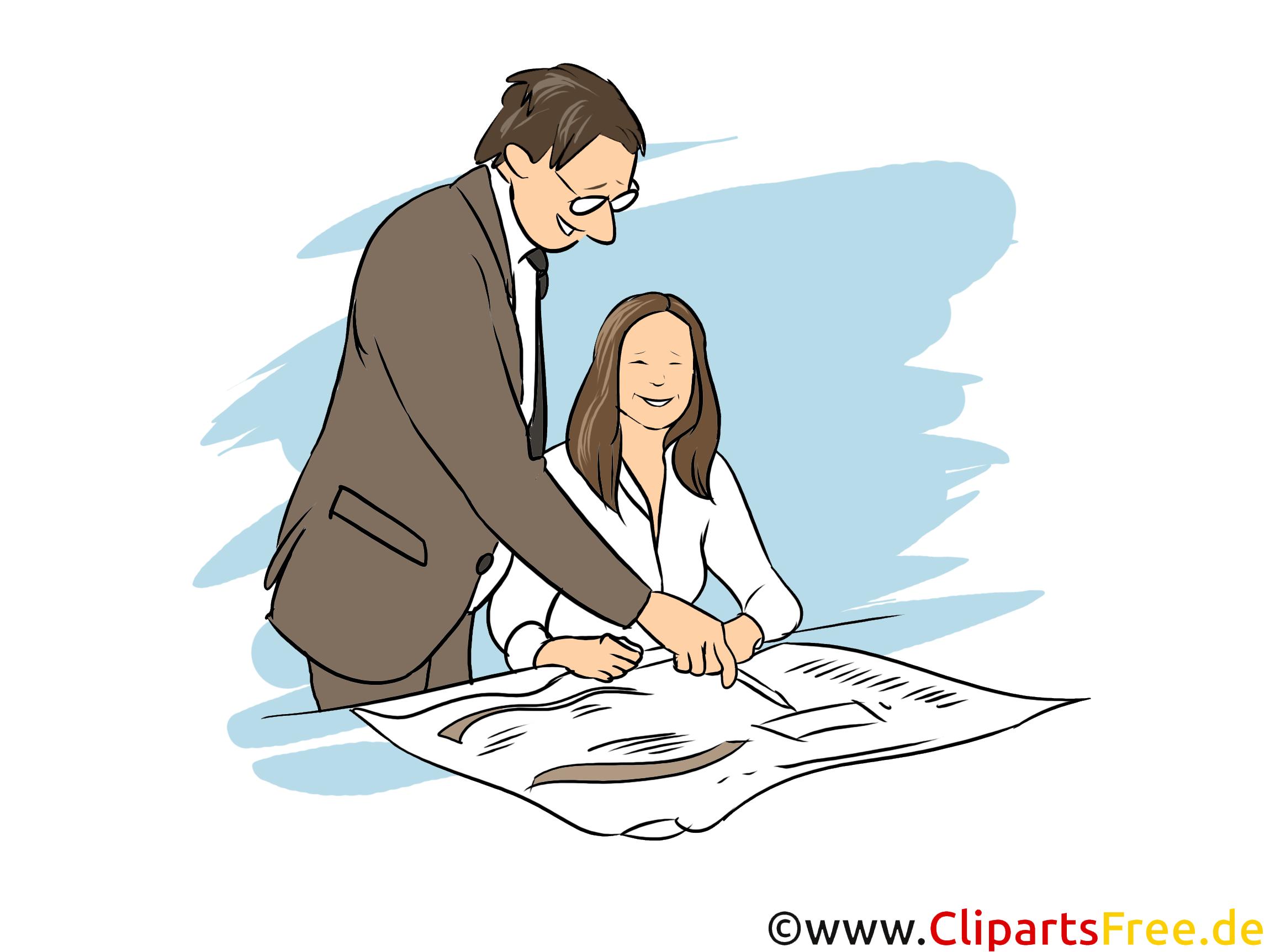 Kaufmann Clipart, Bild, Grafik zum Thema Ausbildungsberufe
